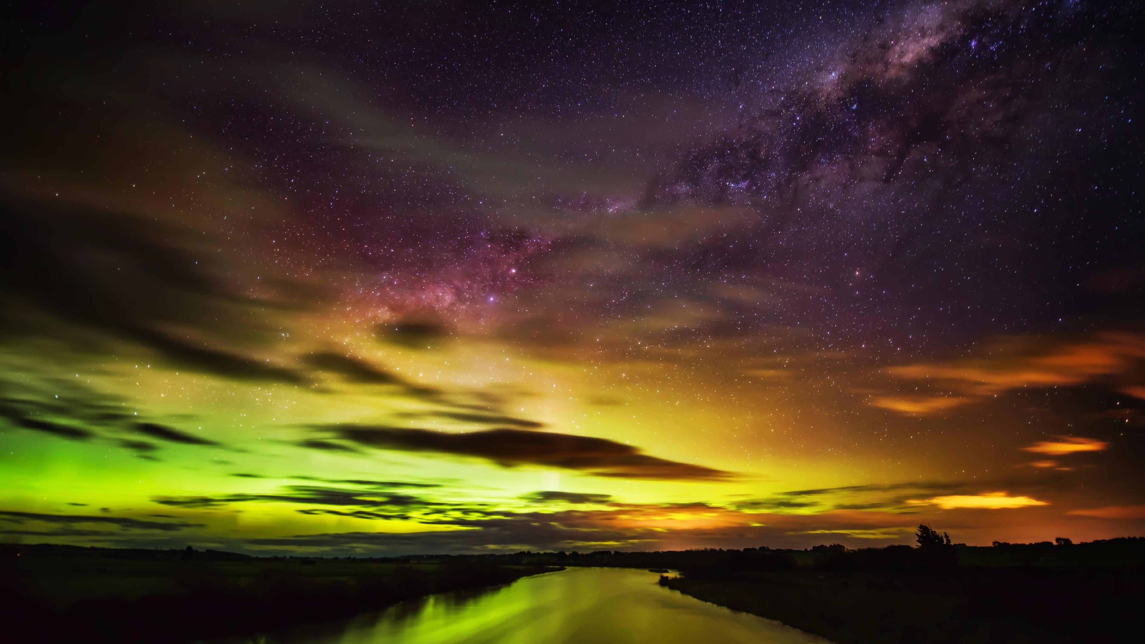 Res: 3840x2160, The Southern Lights In New Zealand Wallpaper | Wallpaper Studio 10 | Tens  of thousands HD and UltraHD wallpapers for Android, Windows and Xbox