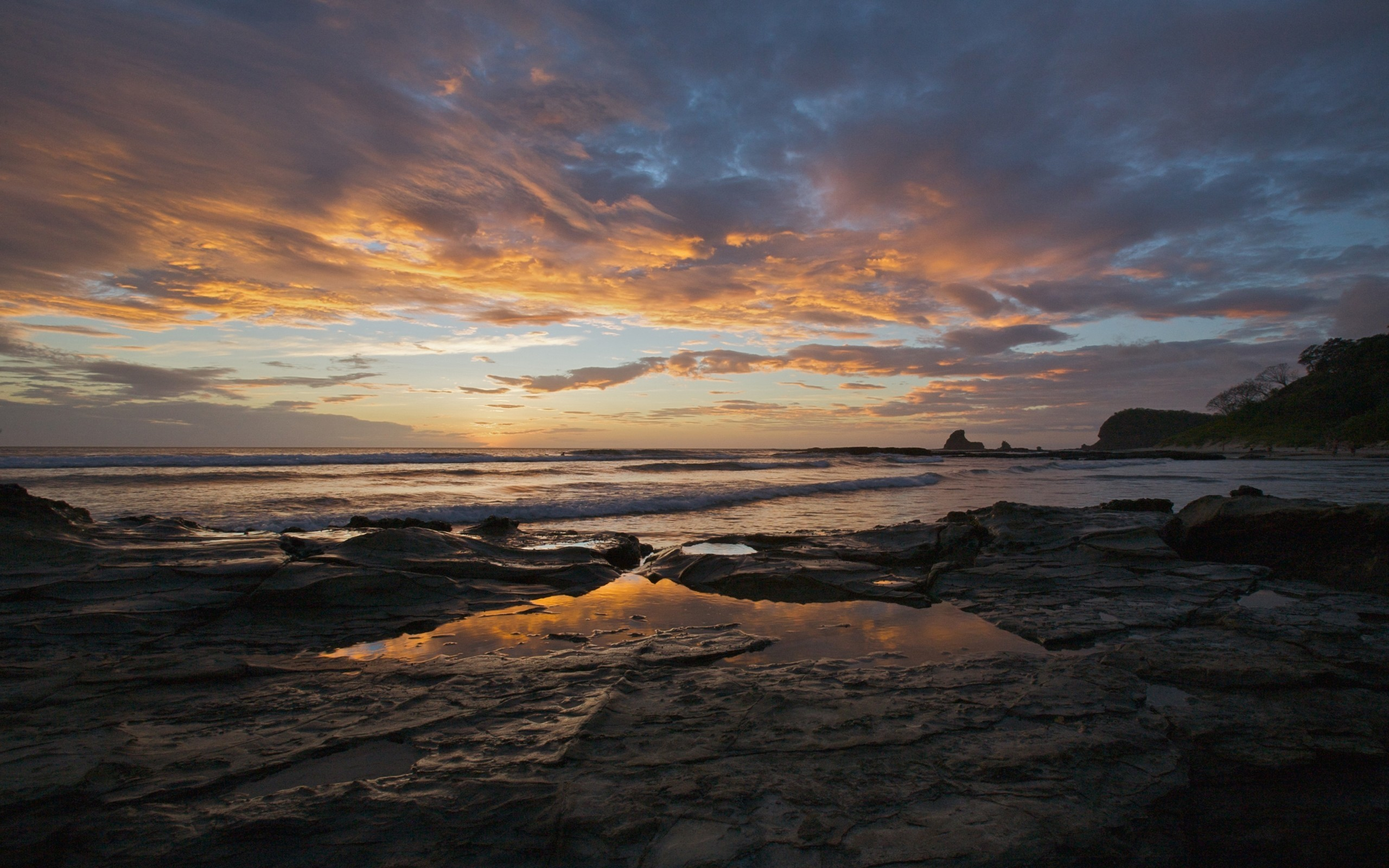 Res: 2560x1600, view, ocean,hd flower images, sea, southern, beaches, nicaragua, water  backgrounds,sunset, sun, coast, nature, landscapes mobile, land, amazing  beaches ...