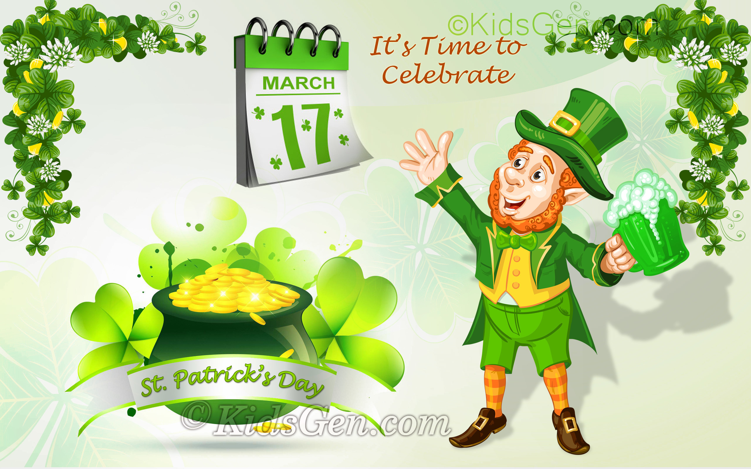 Res: 2560x1600, St. Patrick's Day Wallpaper for kids