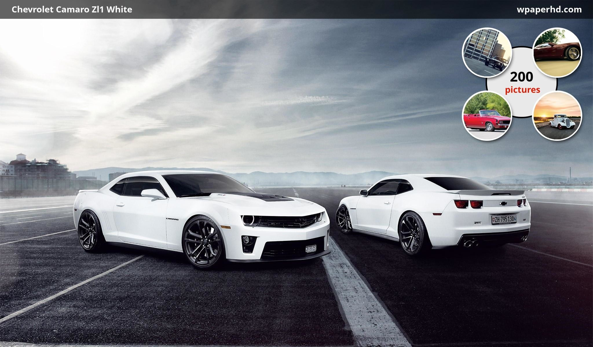 Res: 2048x1200, Description Chevrolet Camaro Zl1 White wallpaper from Chevrolet category.  You are on page with Chevrolet Camaro Zl1 White wallpaper ...