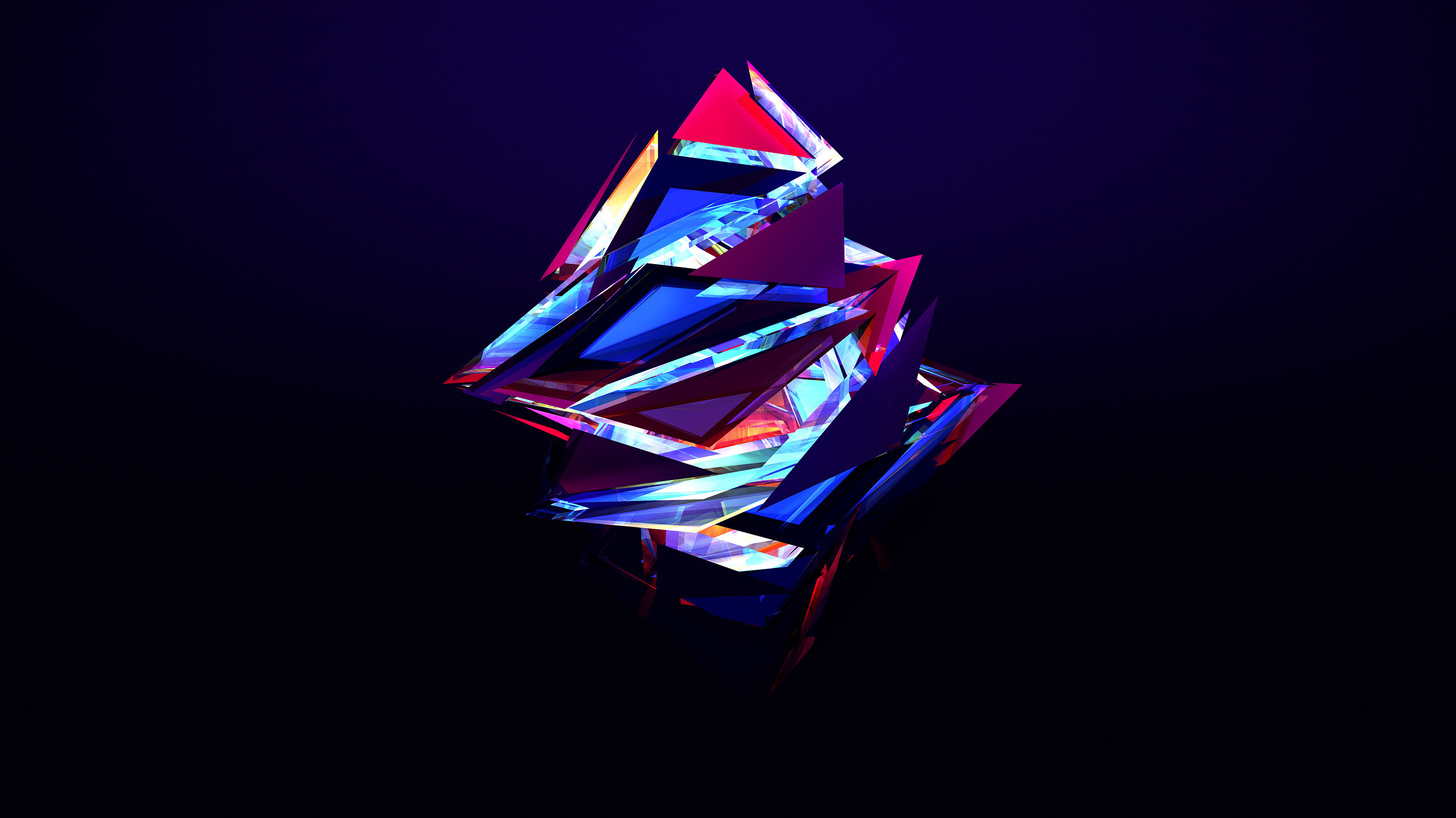 Res: 2560x1440, Tags: abstract Triangles