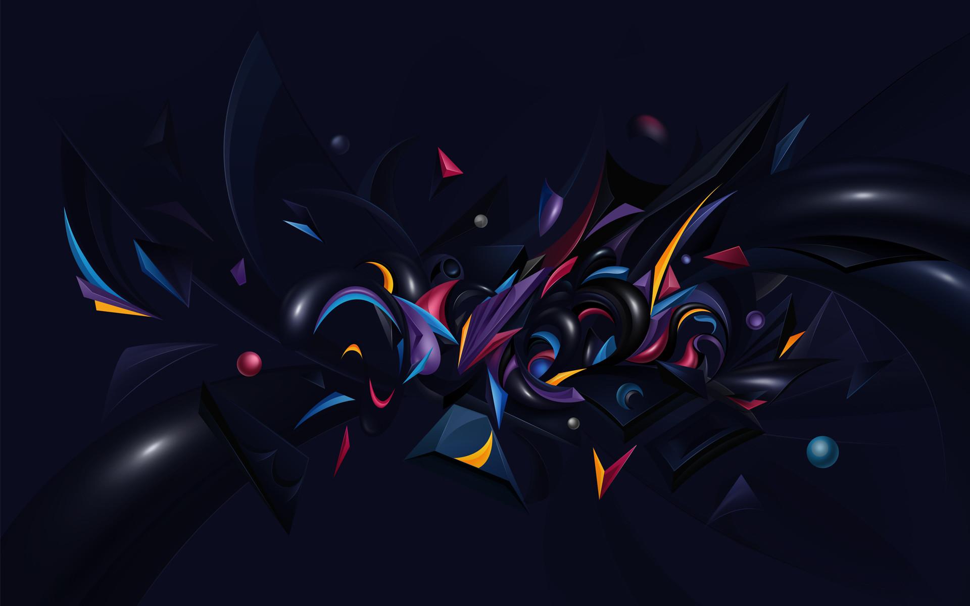 Res: 1920x1200, Abstract Chaos Wallpaper