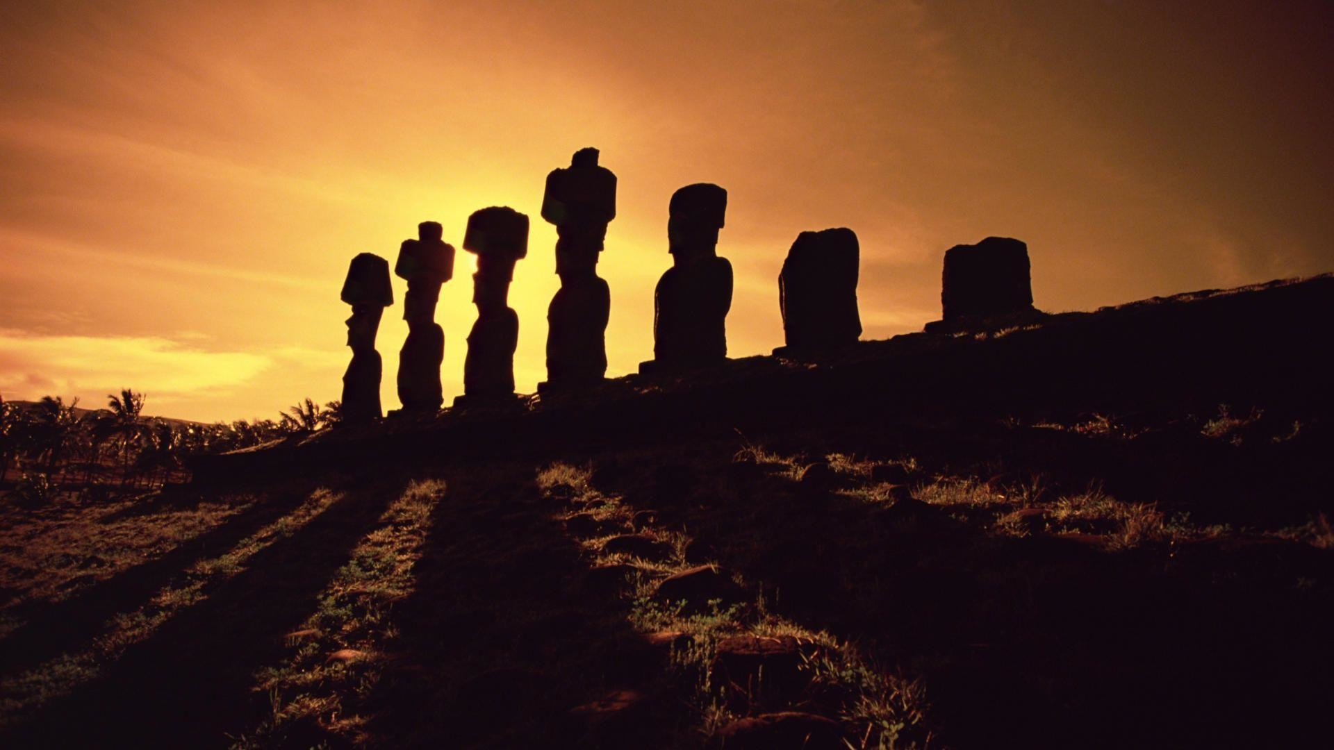 Res: 1920x1080, Easter Island Top Wallpapers Sunset #8168 Wallpaper | Cariwall.