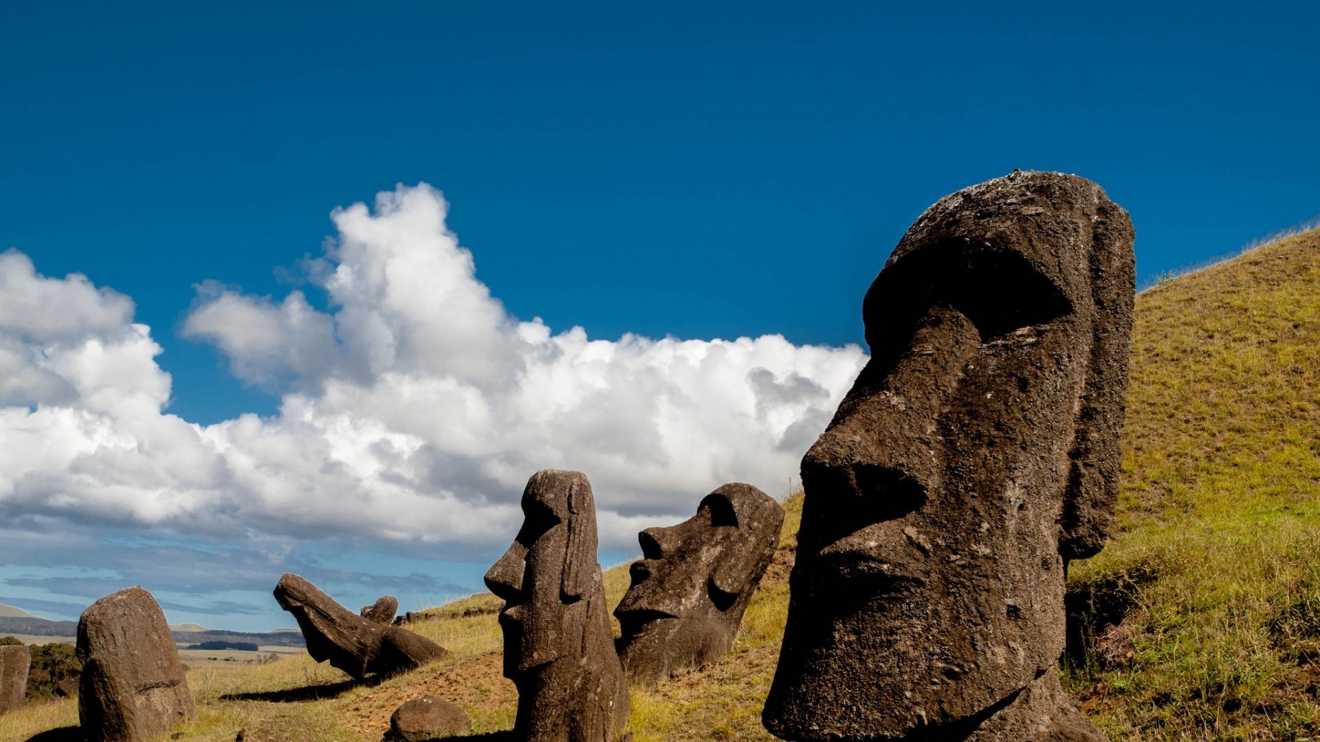 Res: 1920x1080, Nature HD Image Wallpaper chile easter island rapa nui moai statue carved  image idol 101822