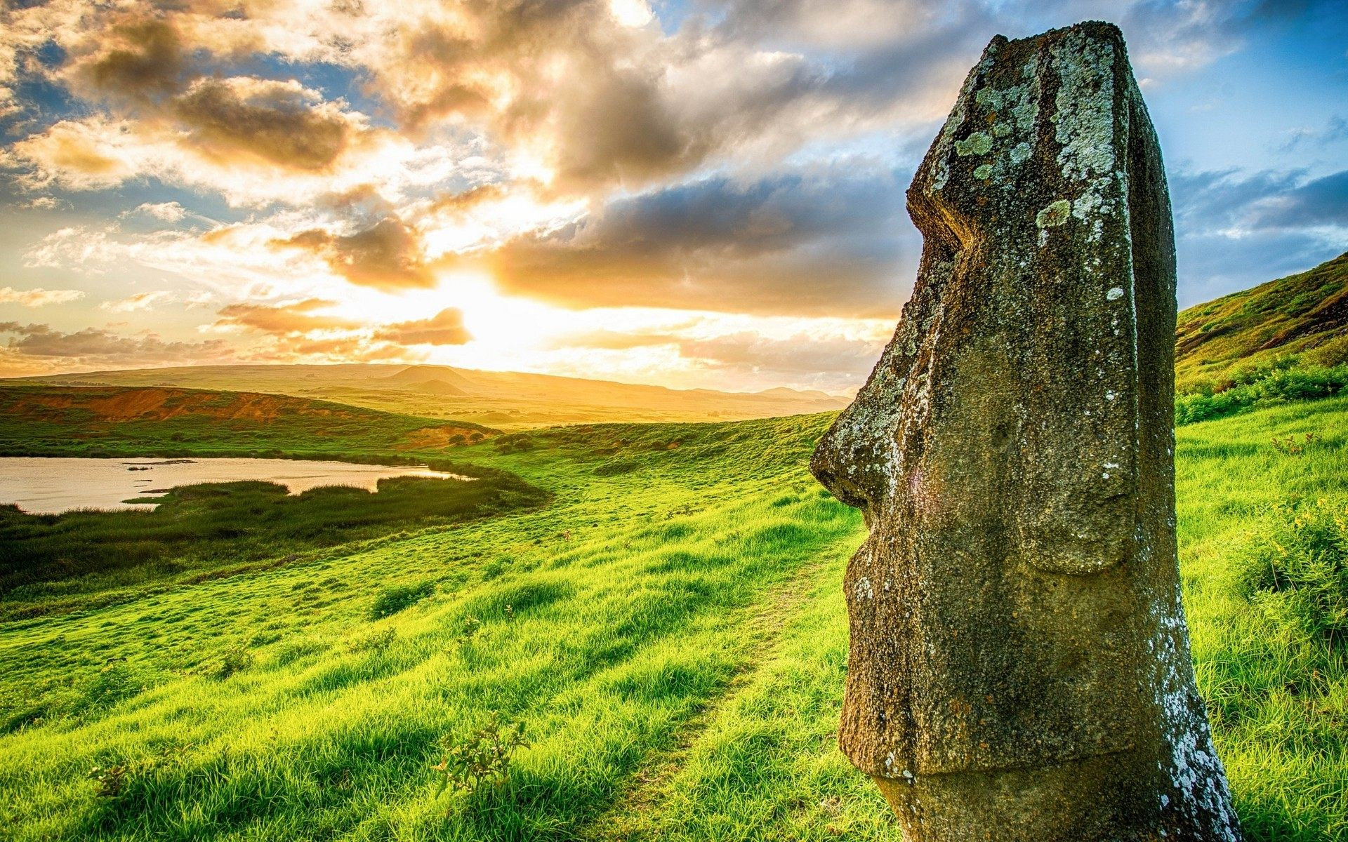Res: 1920x1200, Related. Easter Island Statues Wallpaper