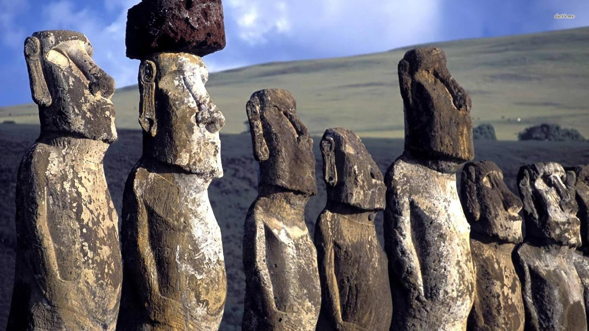 Res: 1920x1080, easter island moai statues
