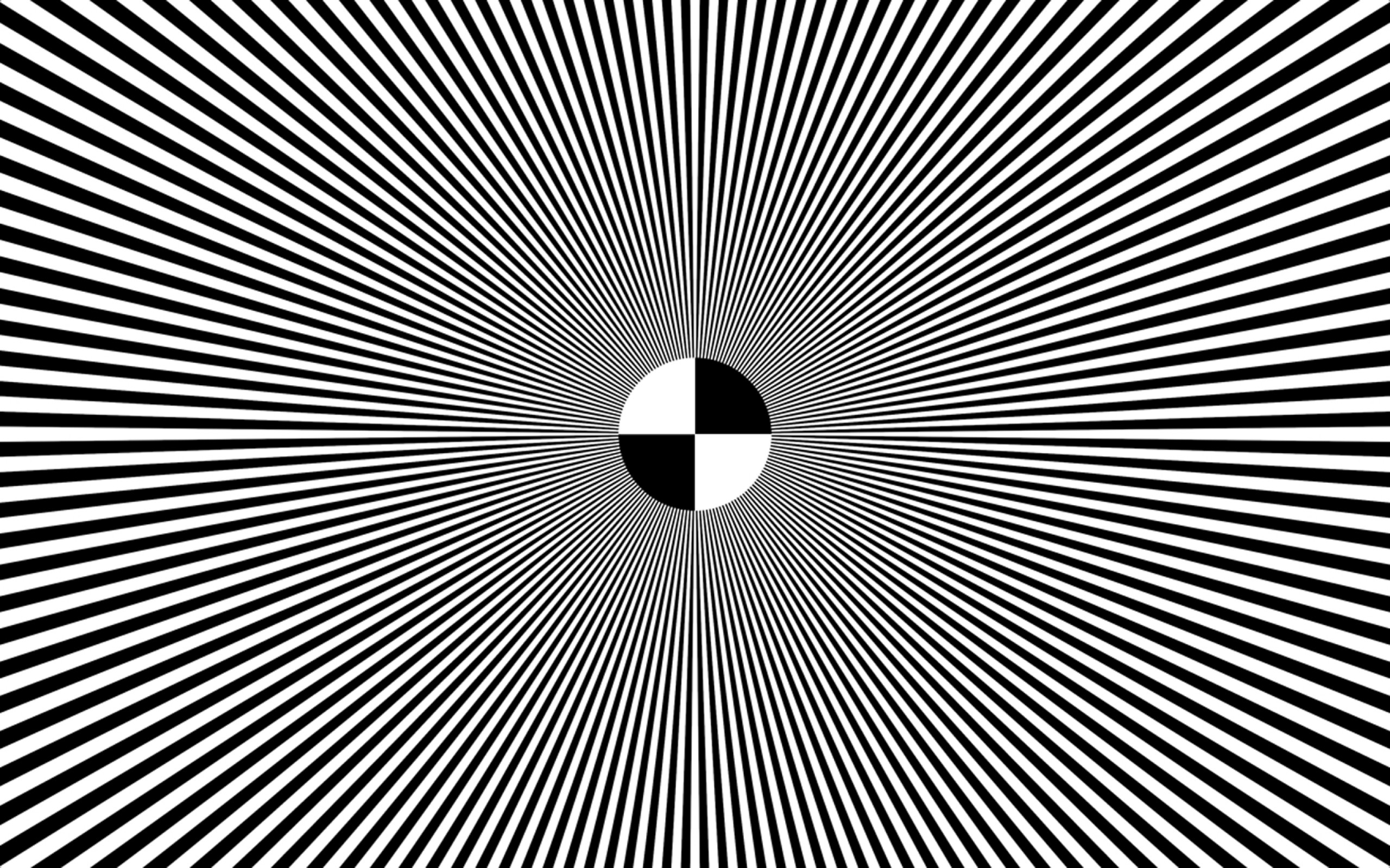 Res: 2560x1600, Illusion Black And White To Color Wallpaper