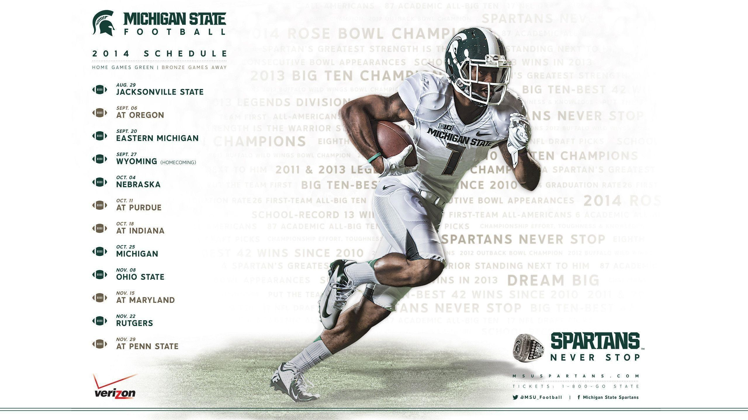 Res: 2560x1440, Msu Football Schedule 2015 Wallpapers - Wallpaper Cave