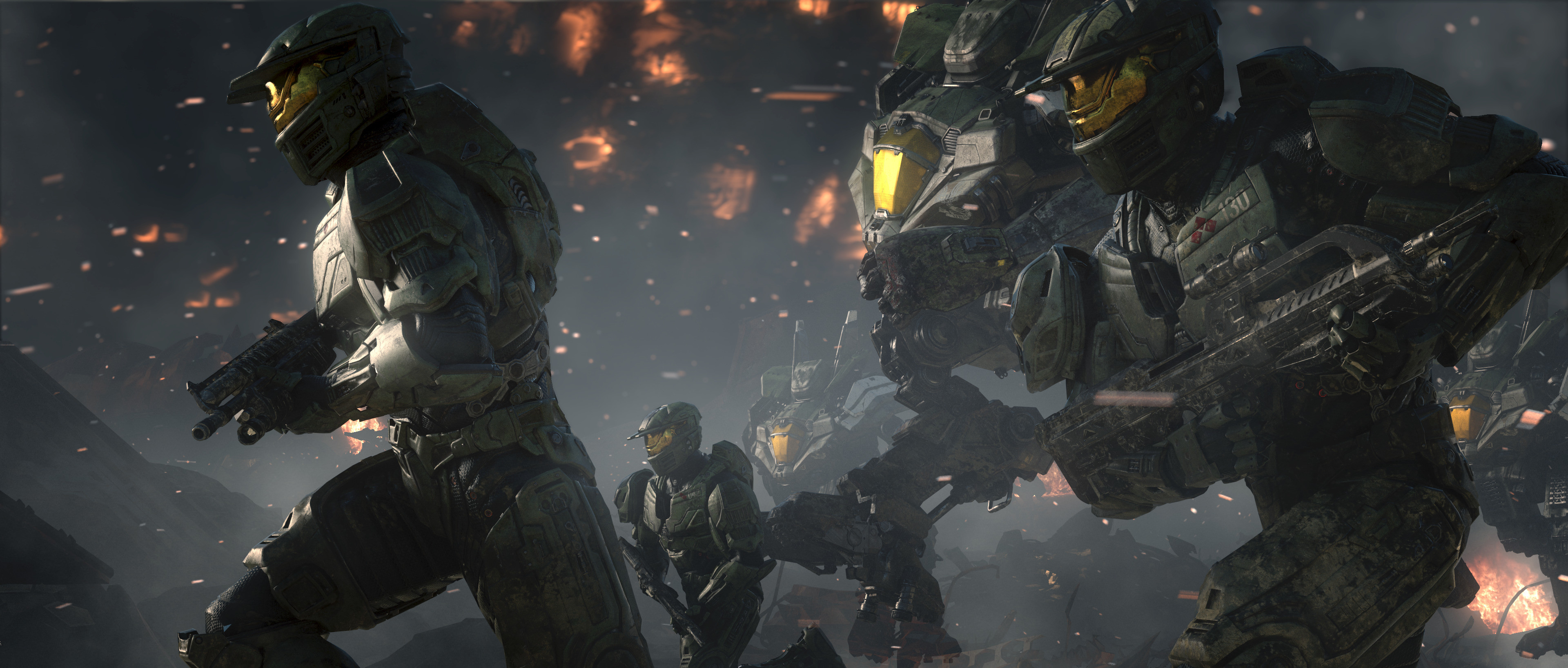 Res: 3840x1636, spartans halo wars wallpaper and background