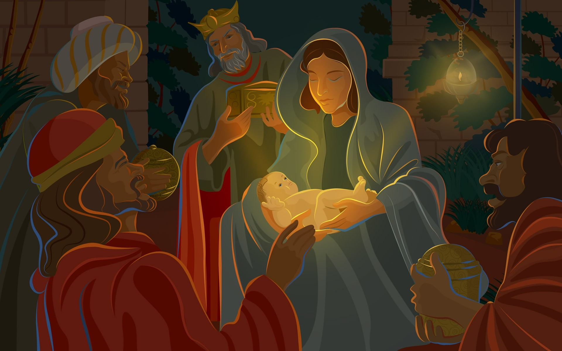 Res: 1920x1200, HD Wallpapers 25 19 *1 0 Illustration - Nativity scene - The Birth of Jesus