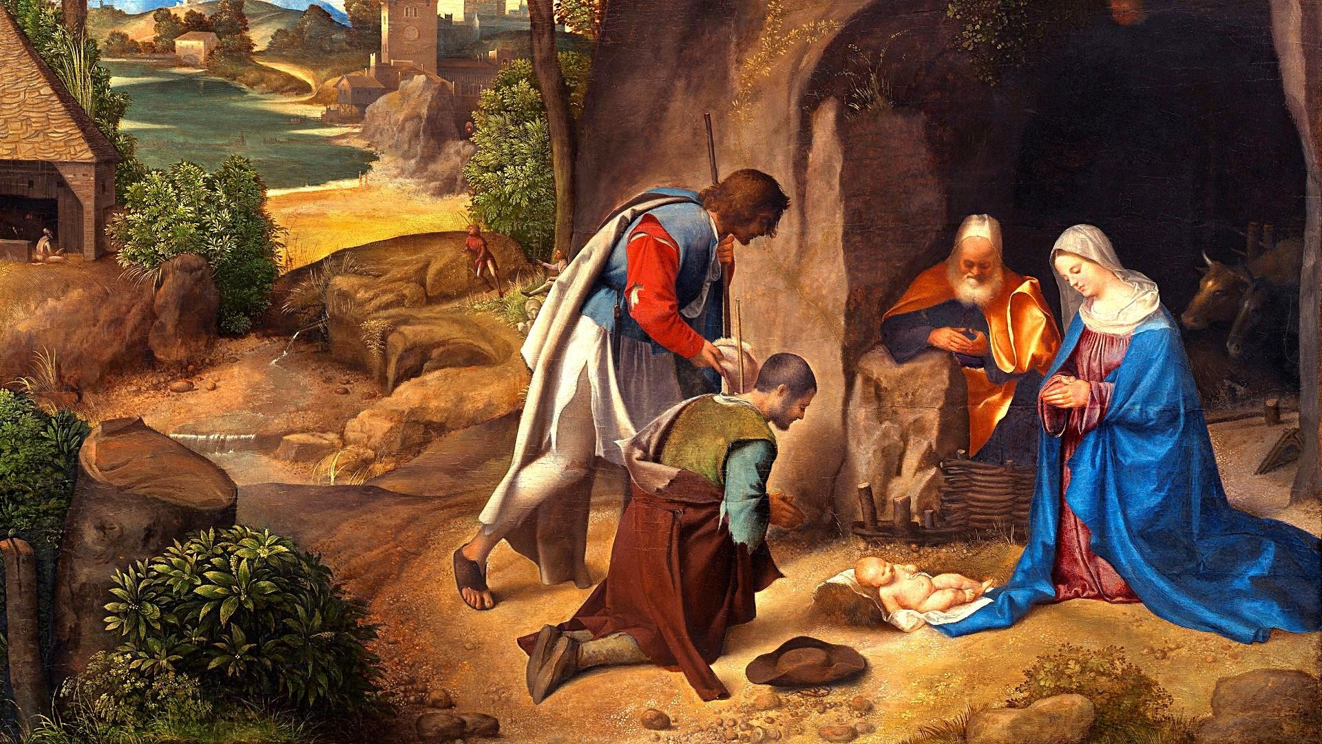 Res: 1920x1080, Giorgione Adoration Of The Shepherds Wallpaper | Wallpaper Studio 10 | Tens  of thousands HD and UltraHD wallpapers for Android, Windows and Xbox