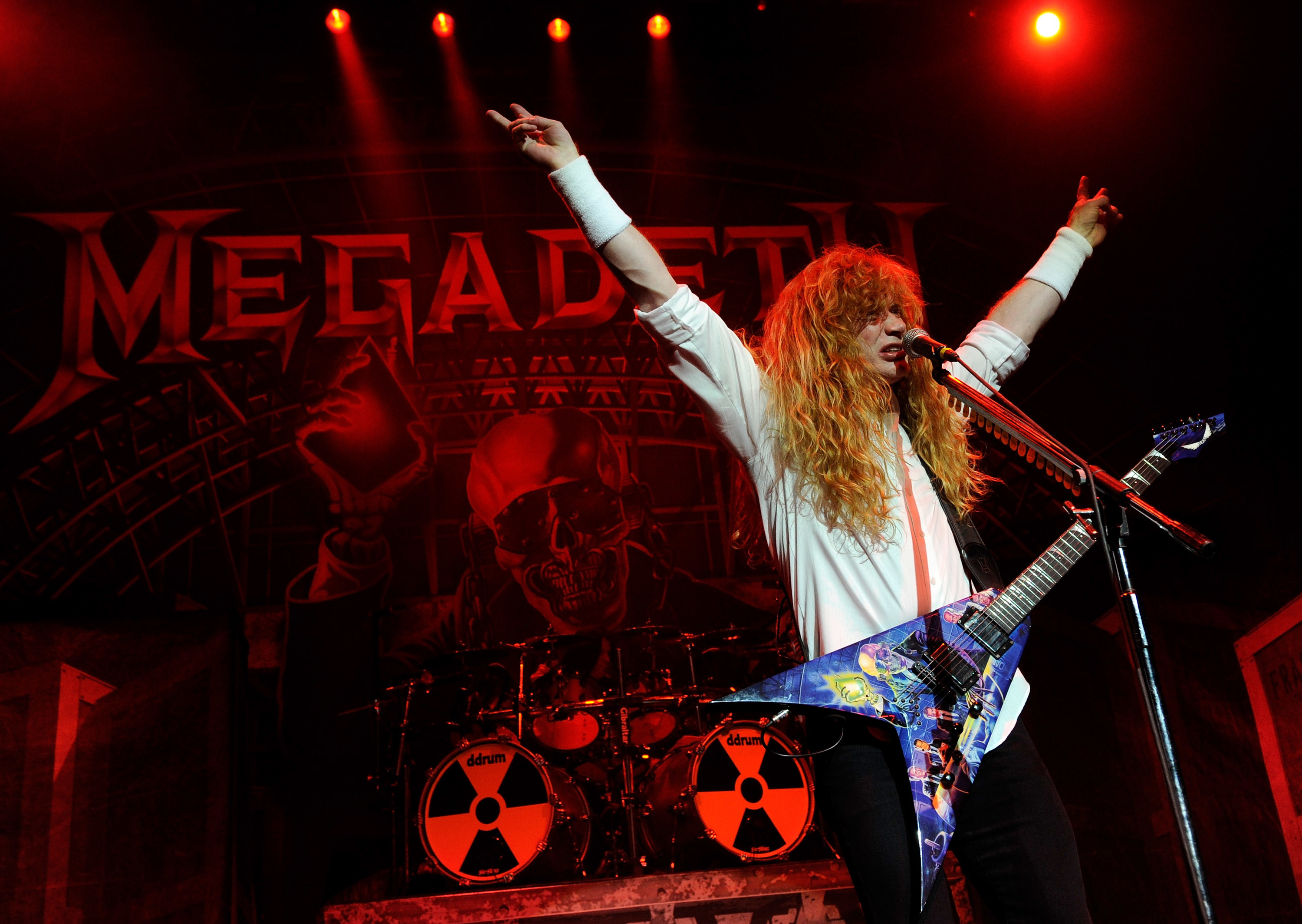 Res: 3000x2128, LAS VEGAS - OCTOBER 20: Megadeth frontman Dave Mustaine performs during the  Jagermeister Fall Music