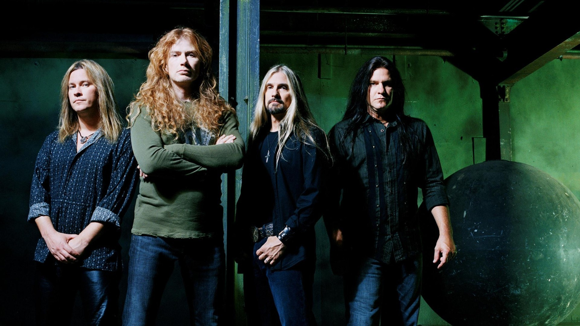 Res: 1920x1080, Shawn Drover Megadeth David Ellefson Dave Mustaine Chris Broderick 1080p HD  Wallpaper Background