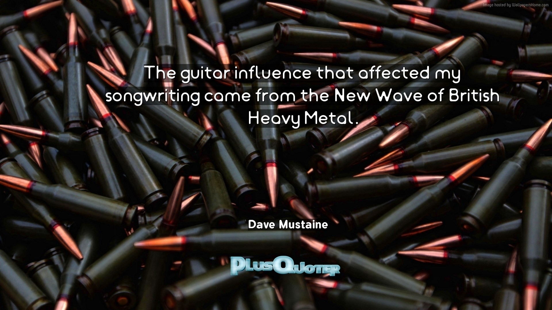 """Res: 1920x1080, Download Wallpaper with inspirational Quotes- """"The guitar influence that  affected my songwriting came from"""