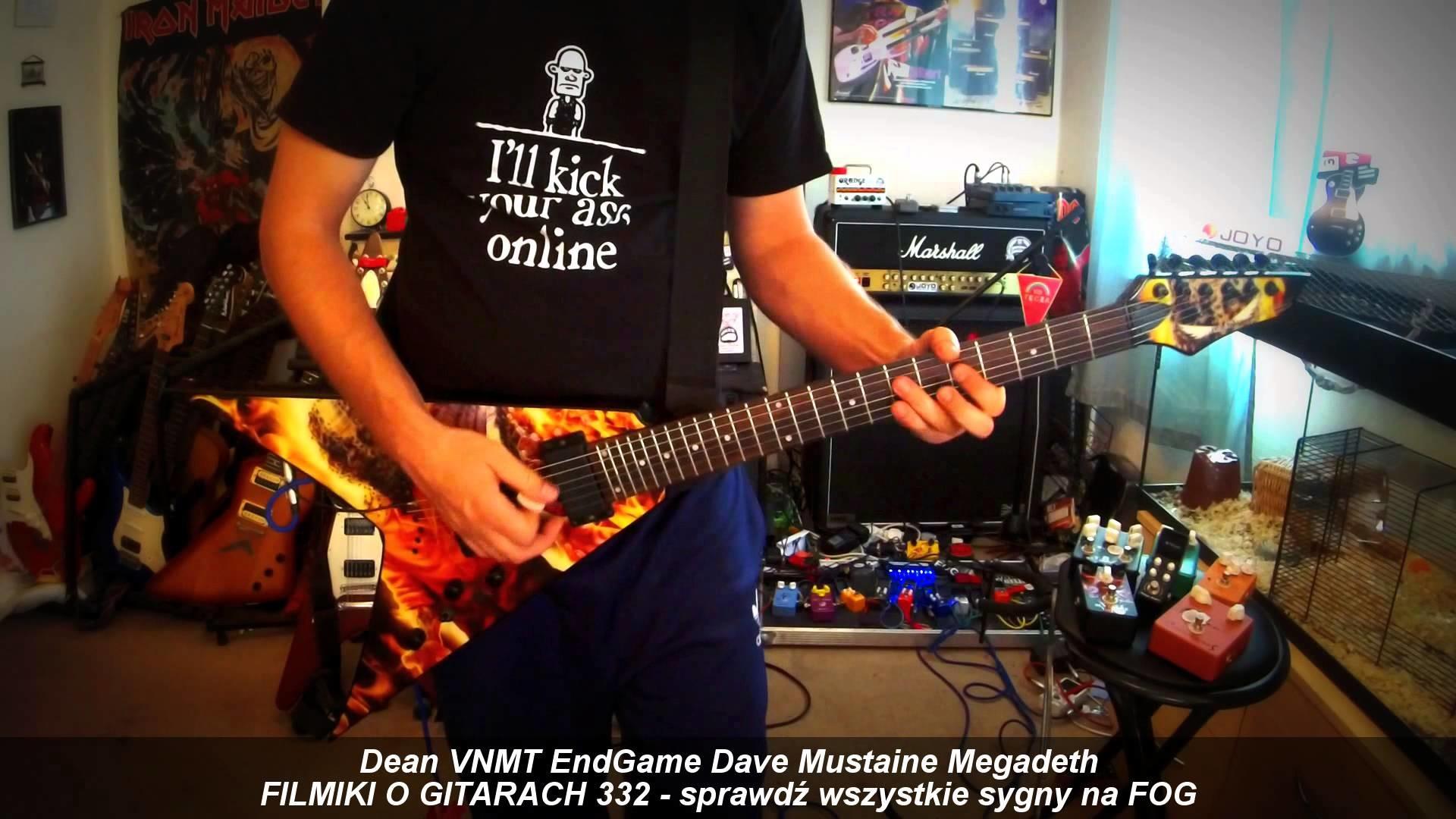 Res: 1920x1080, DEAN VNMT End Game Dave Mustaine Megadeth - FOG lubi sygny :) - FILMIKI O  GITARACH 332