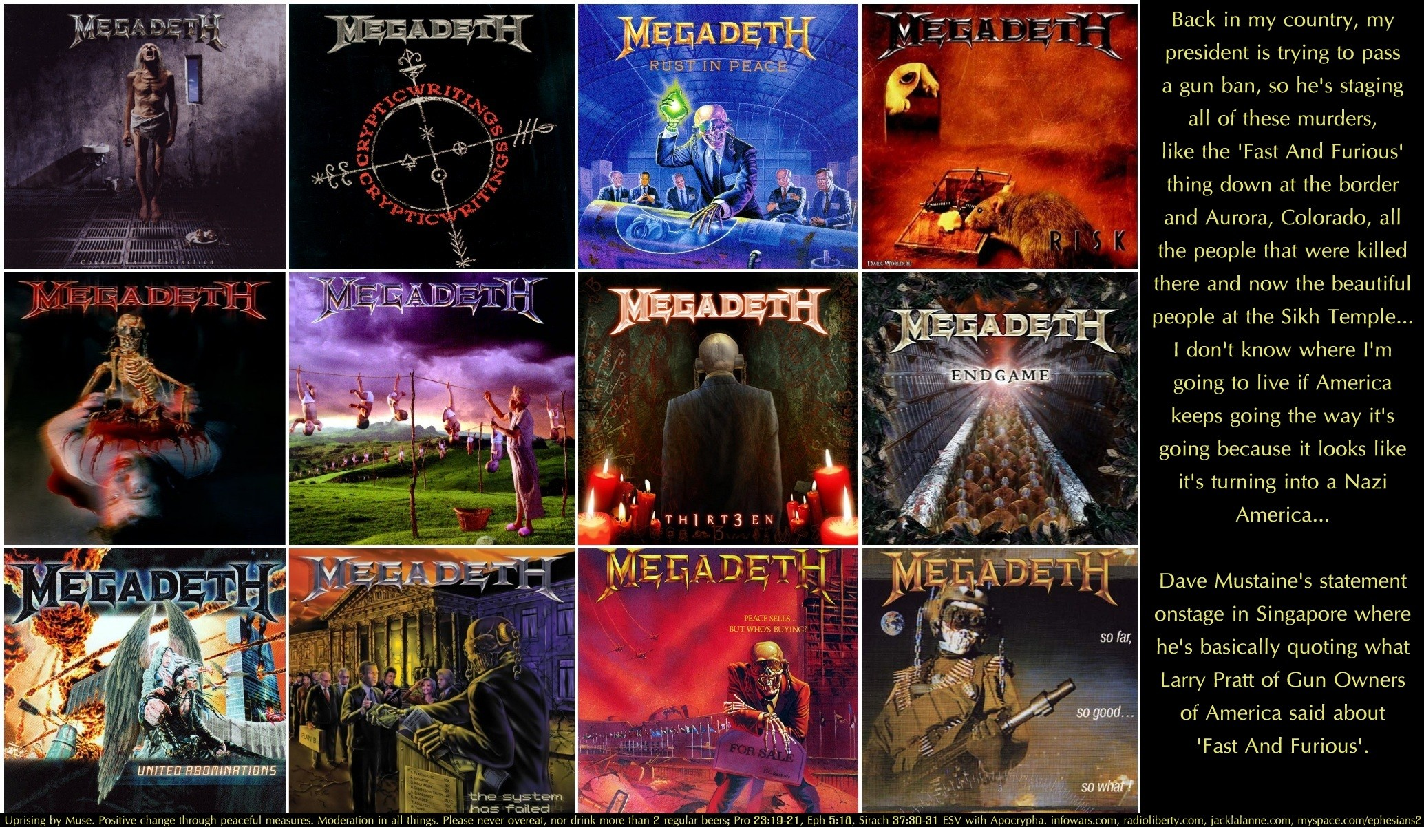 Res: 2069x1202, Tags: freedom guns cool Entertainment megadeth Music rights quotes  Religious christian dave mustaine art thrash