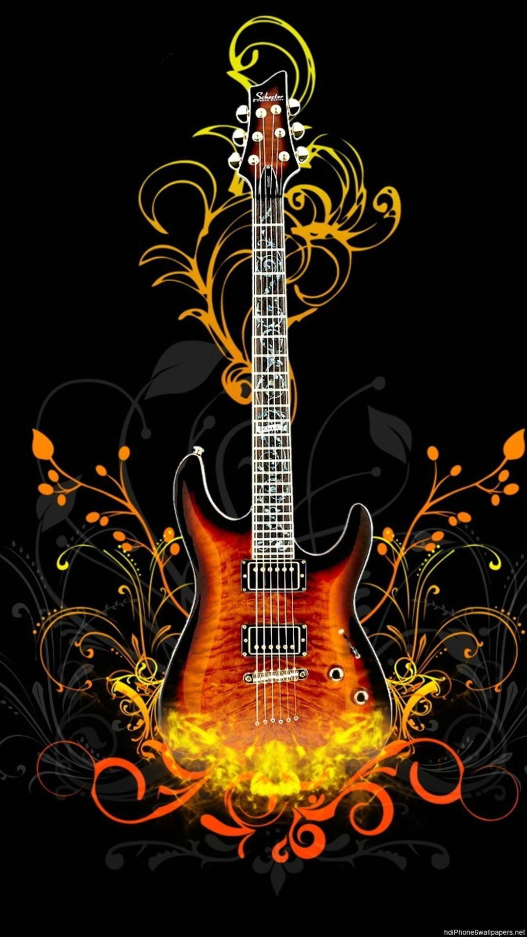 Res: 1080x1920, 3D Guitar Wallpaper iPhone - Best iPhone Wallpaper