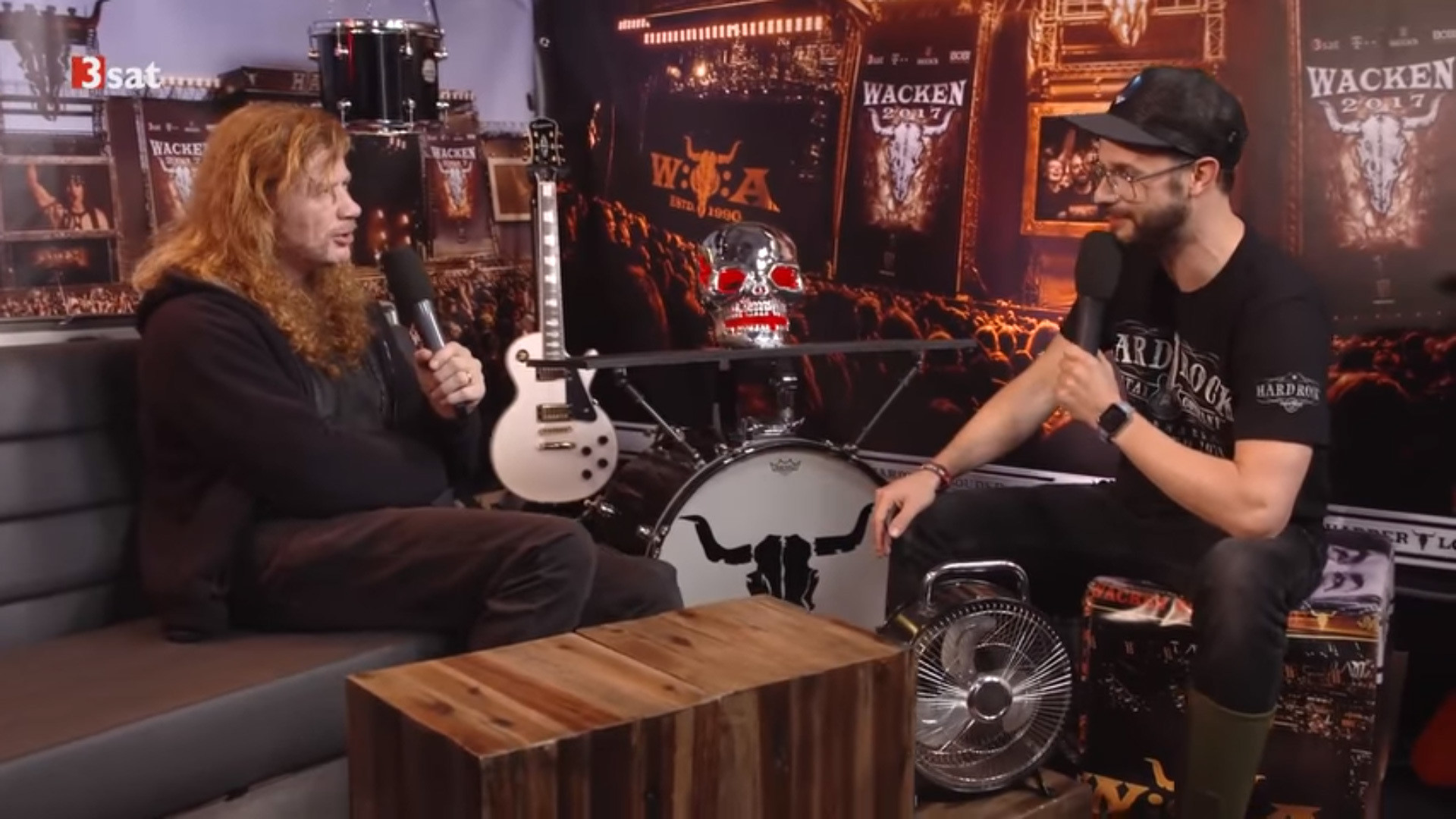 Res: 1920x1080, ... public broadcaster 3Sat conducted an interview with Dave Mustaine on  August 4 at this year's edition of the Wacken Open Air festival in Wacken,  Germany.