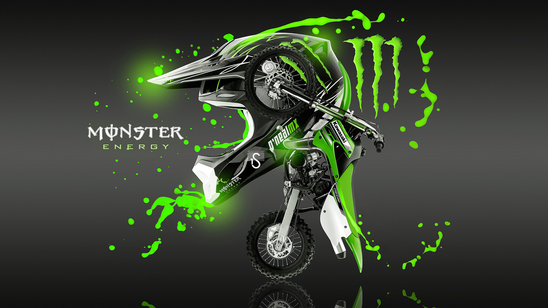 Res: 1920x1080, ... Kawasaki dirt bike monster energy wallpaper hd.