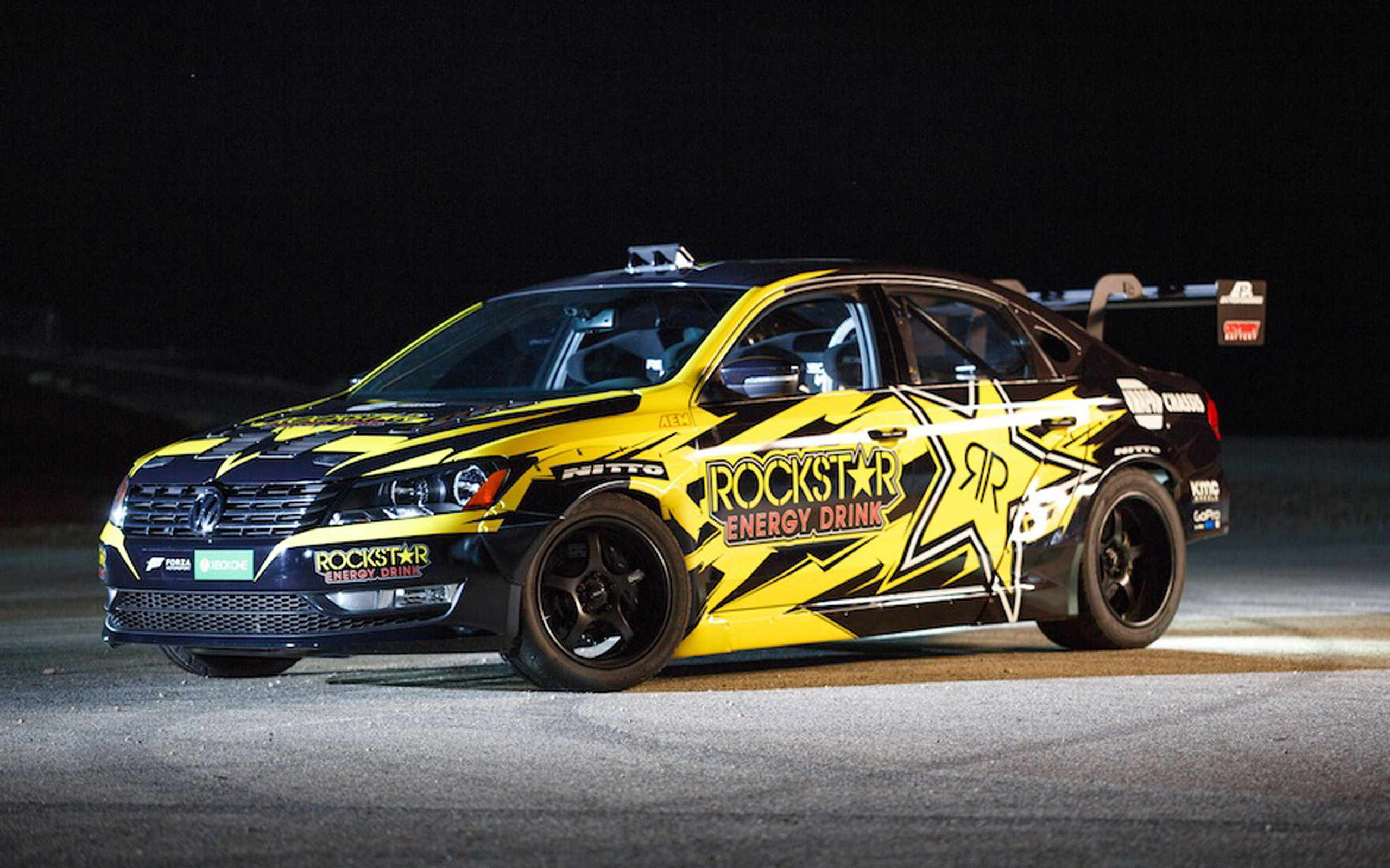 Res: 2560x1600, Wallpaper. 2015 Tanner Foust Rockstar Energy Drink / Nitto Tire Volkswagen  Passat