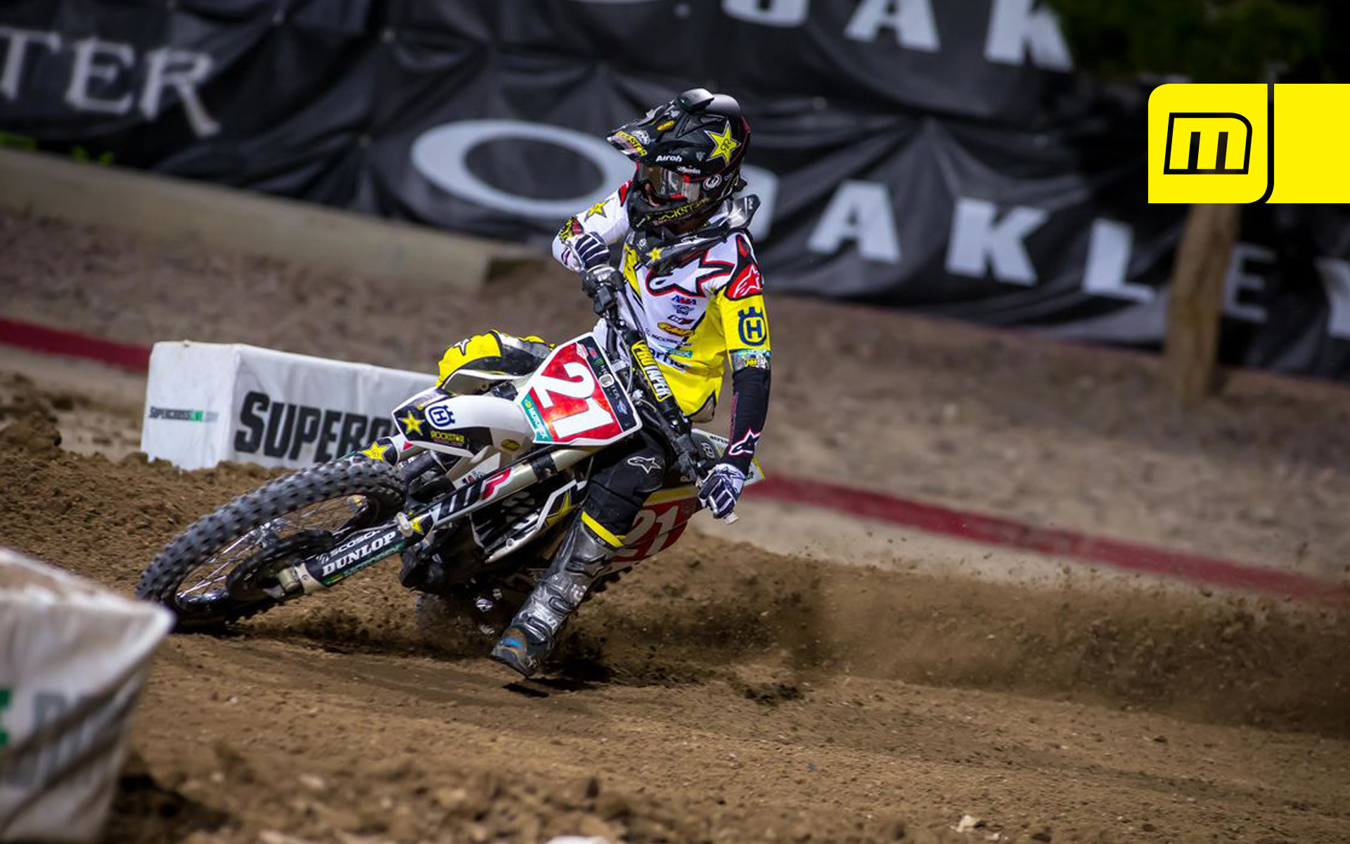 Res: 1920x1200, Clean up your desktop with this fresh Wallpaper of Jason Anderson (Rockstar  Energy Husqvarna Factory Racing) charging his way to the 2018 Monster Energy  AMA ...