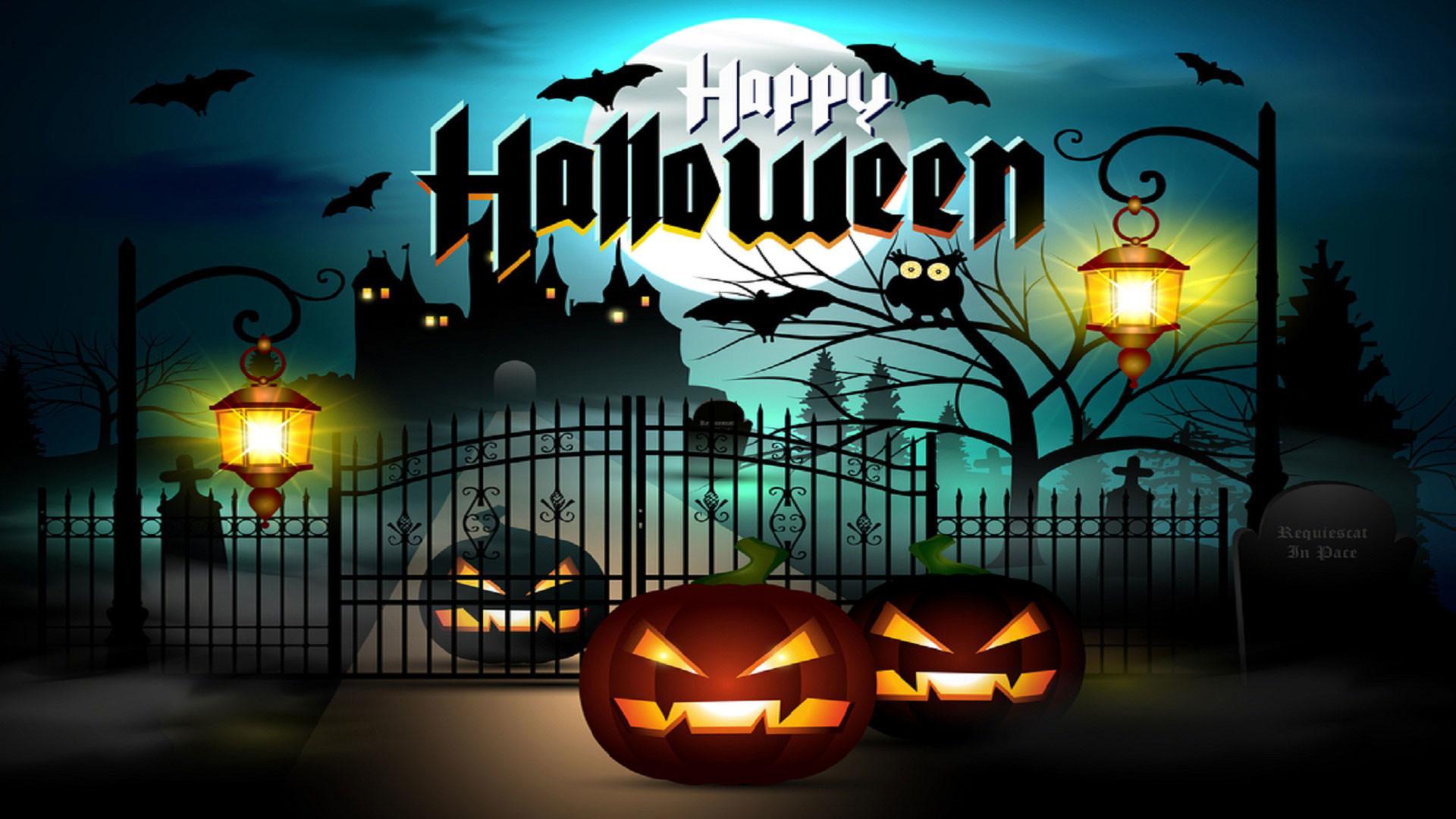Res: 1920x1080, Happy-Halloween-Wallpaper