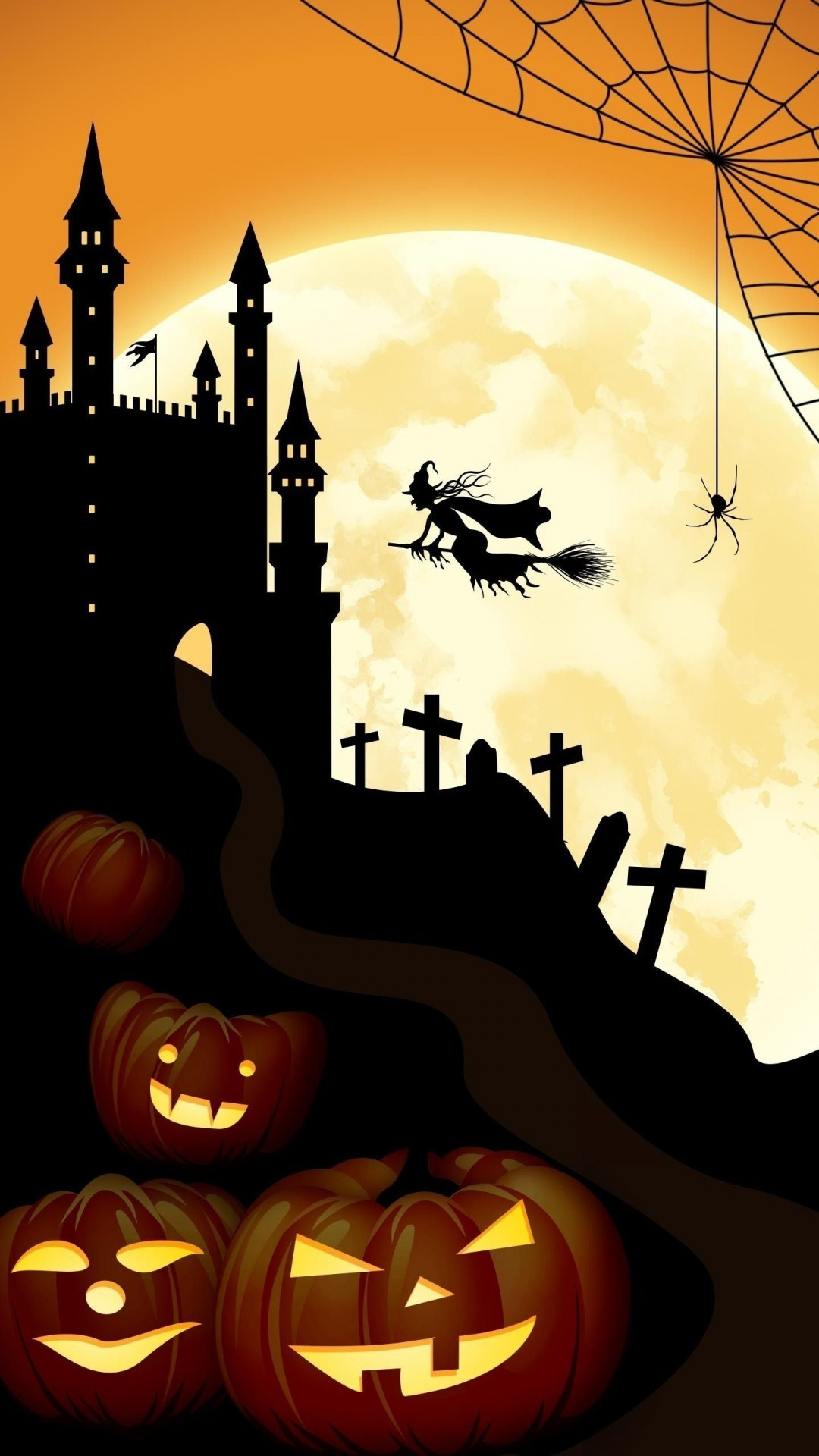 Res: 1080x1920, Halloween Bats and Castle
