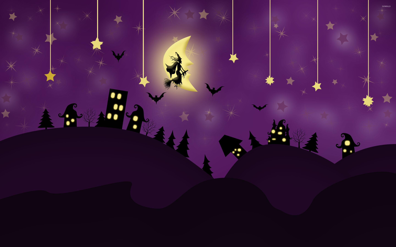Res: 2880x1800, Halloween night wallpaper