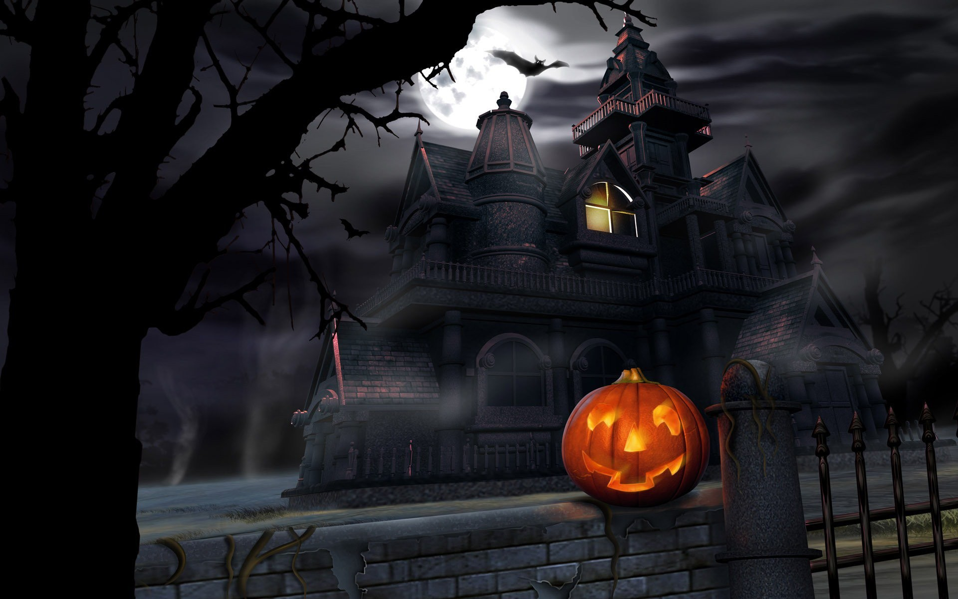 """Res: 1920x1200, ABOUT THIS THEME: This collection of wallpapers is based around the common  theme of """"Halloween"""". Why? Have you looked at a calendar lately?"""