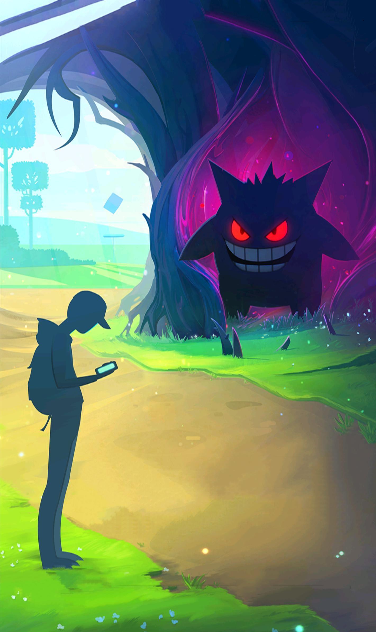 Res: 1421x2389, Pokemon GO Halloween Wallpaper