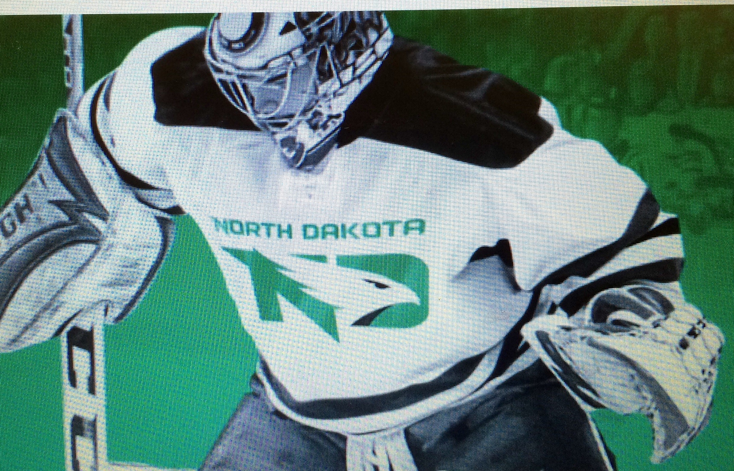 Res: 2457x1577, UND The University of North Dakota's new Fighting Hawks logo is shown on a  hockey jersey.