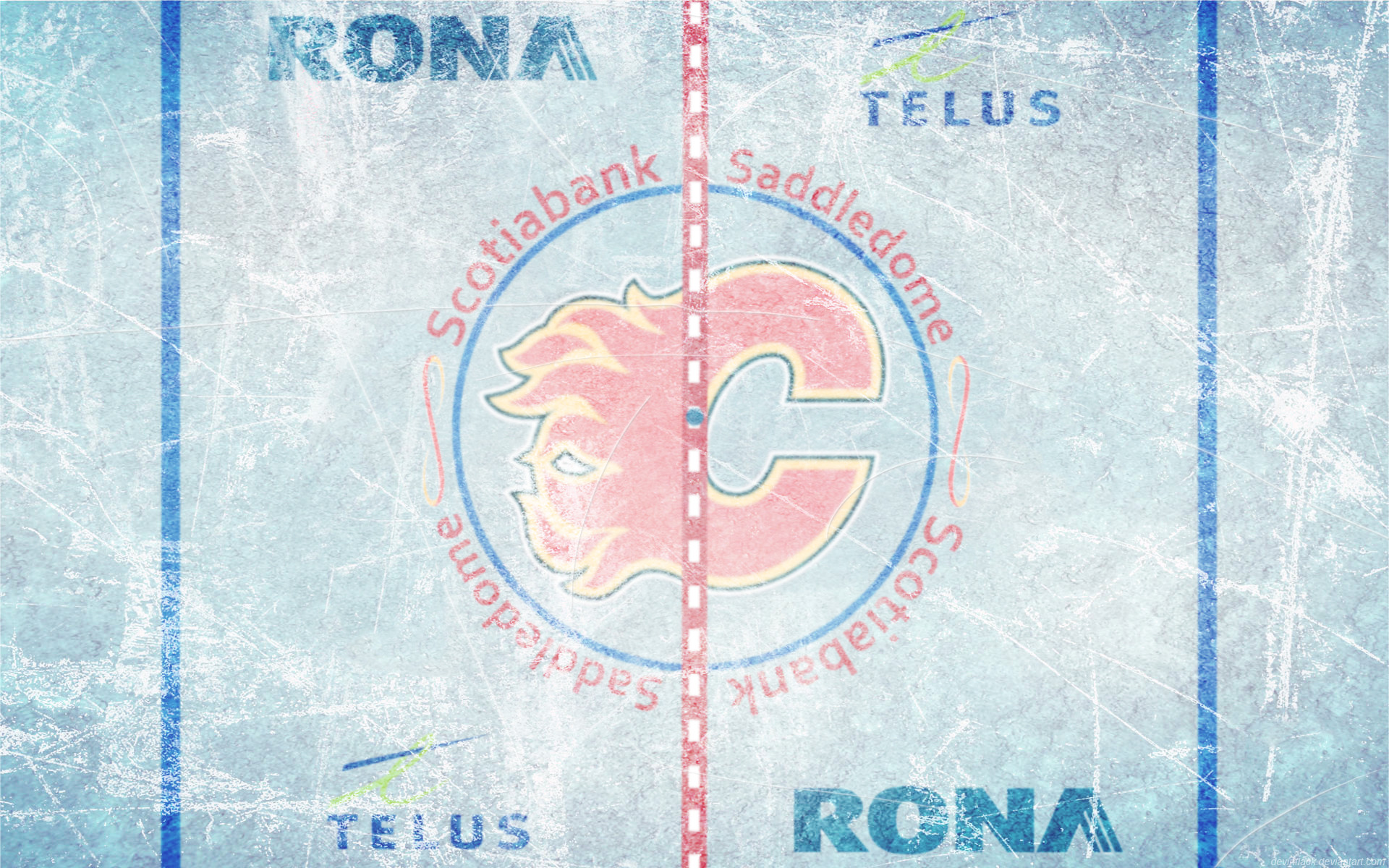 Res: 1920x1200, Scotiabank Saddledome Ice Wallpaper by DevinFlack Scotiabank Saddledome Ice  Wallpaper by DevinFlack