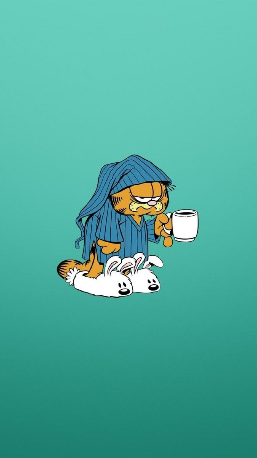 Res: 1080x1920, garfield coffee tired wallpapers for mobile hd