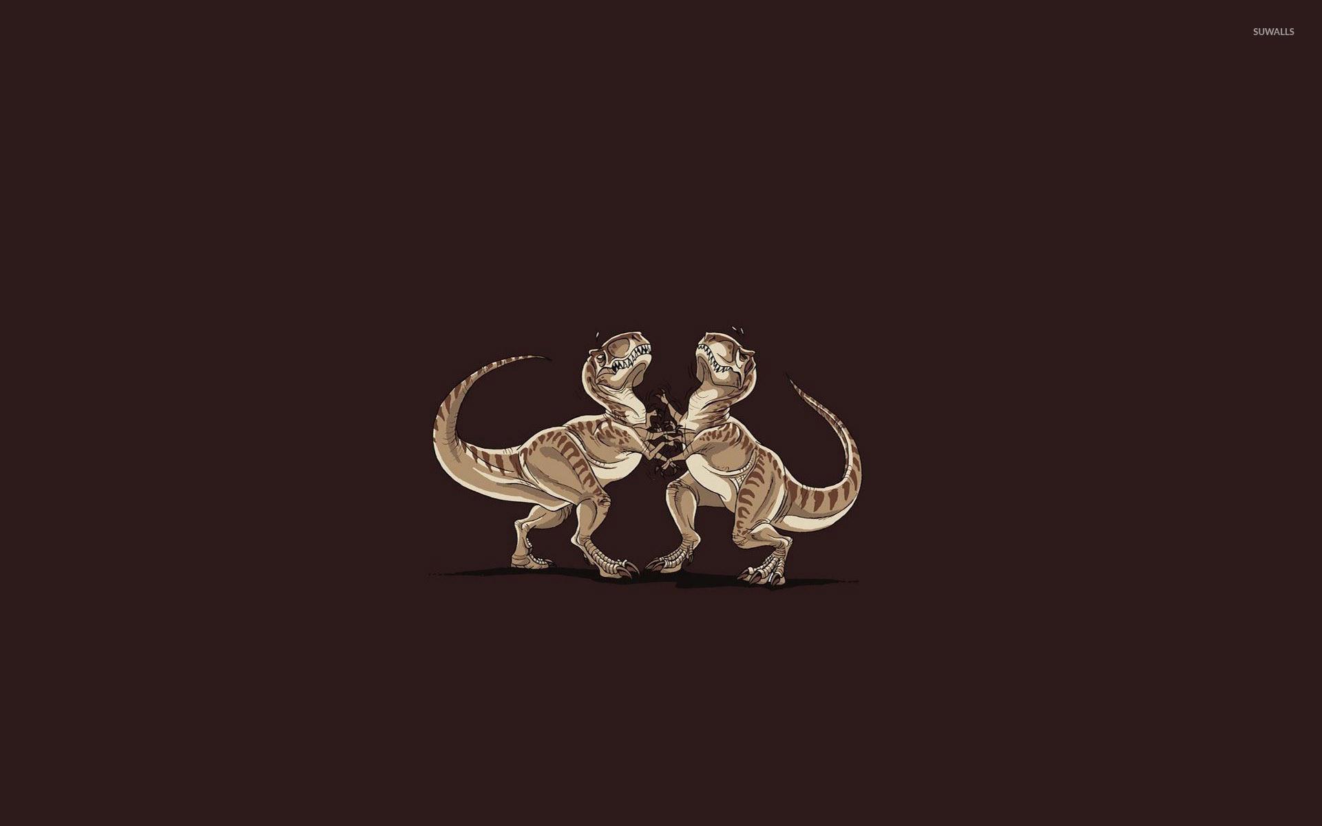 Res: 1920x1200, T-Rex duel wallpaper