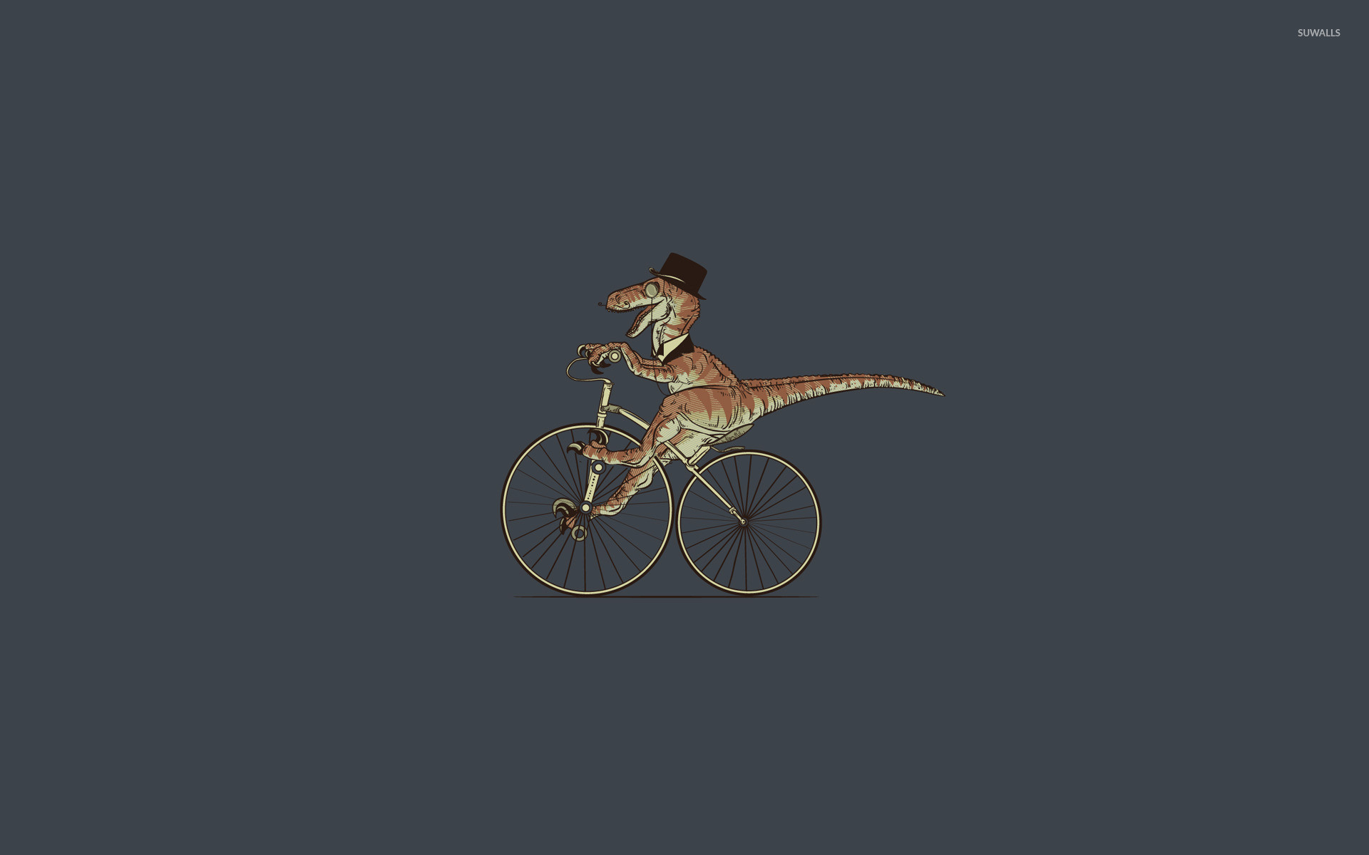 Res: 1920x1200, T-Rex on bicycle wallpaper