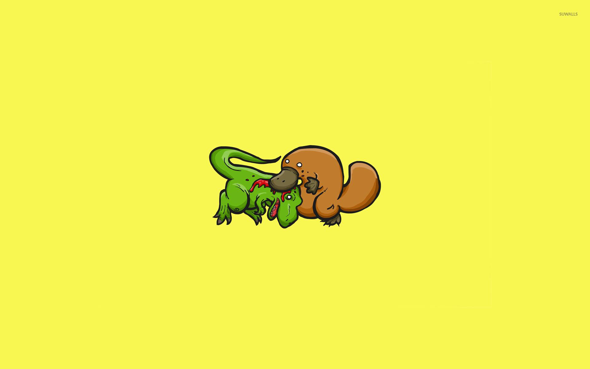 Res: 1920x1200, T-Rex vs Platypus wallpaper