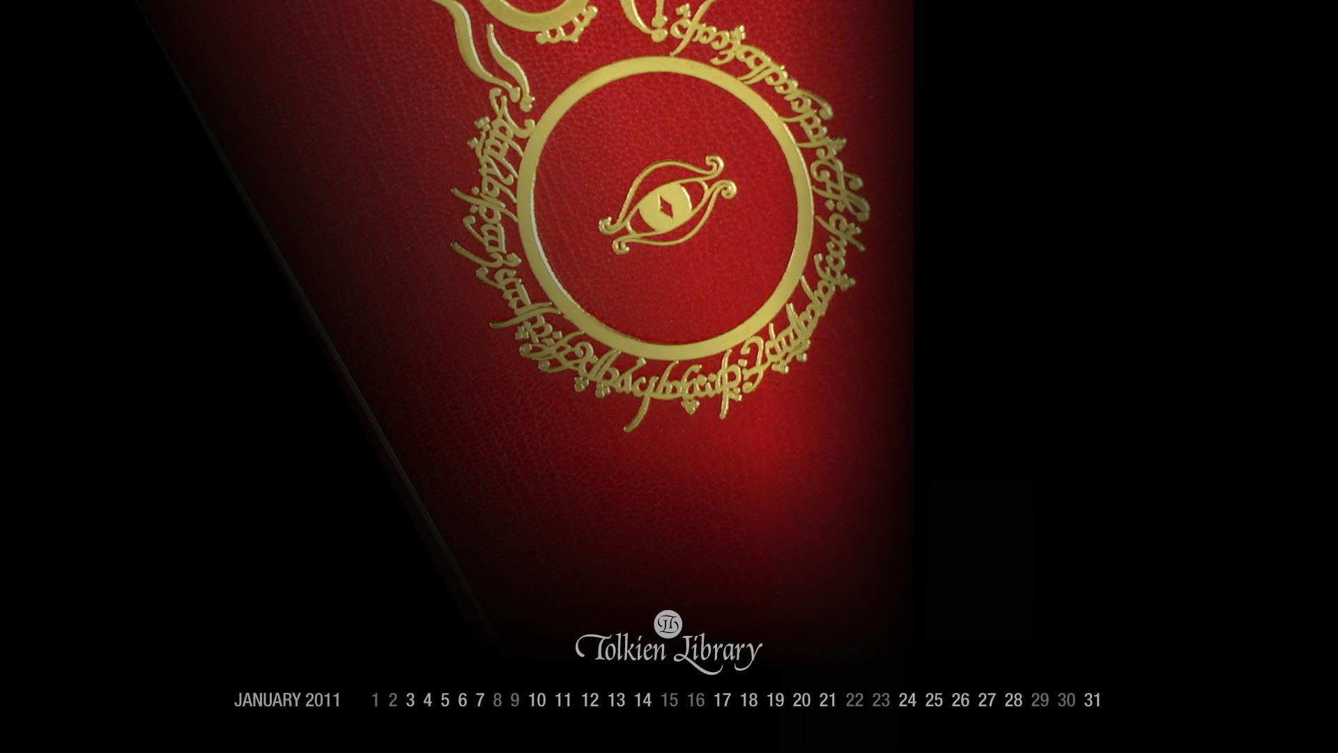 Res: 1920x1080, Tolkien Desktop Wallpaper Calendar 2 January 2011