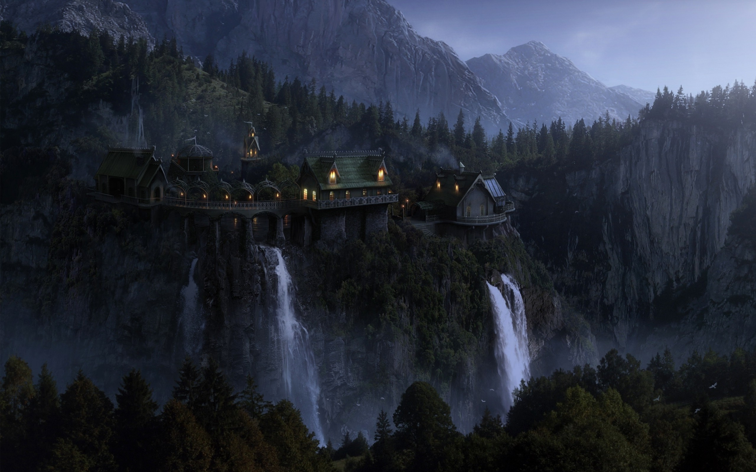 Res: 2560x1600, The Lord Of The Rings, Rivendell Wallpapers HD / Desktop and Mobile  Backgrounds