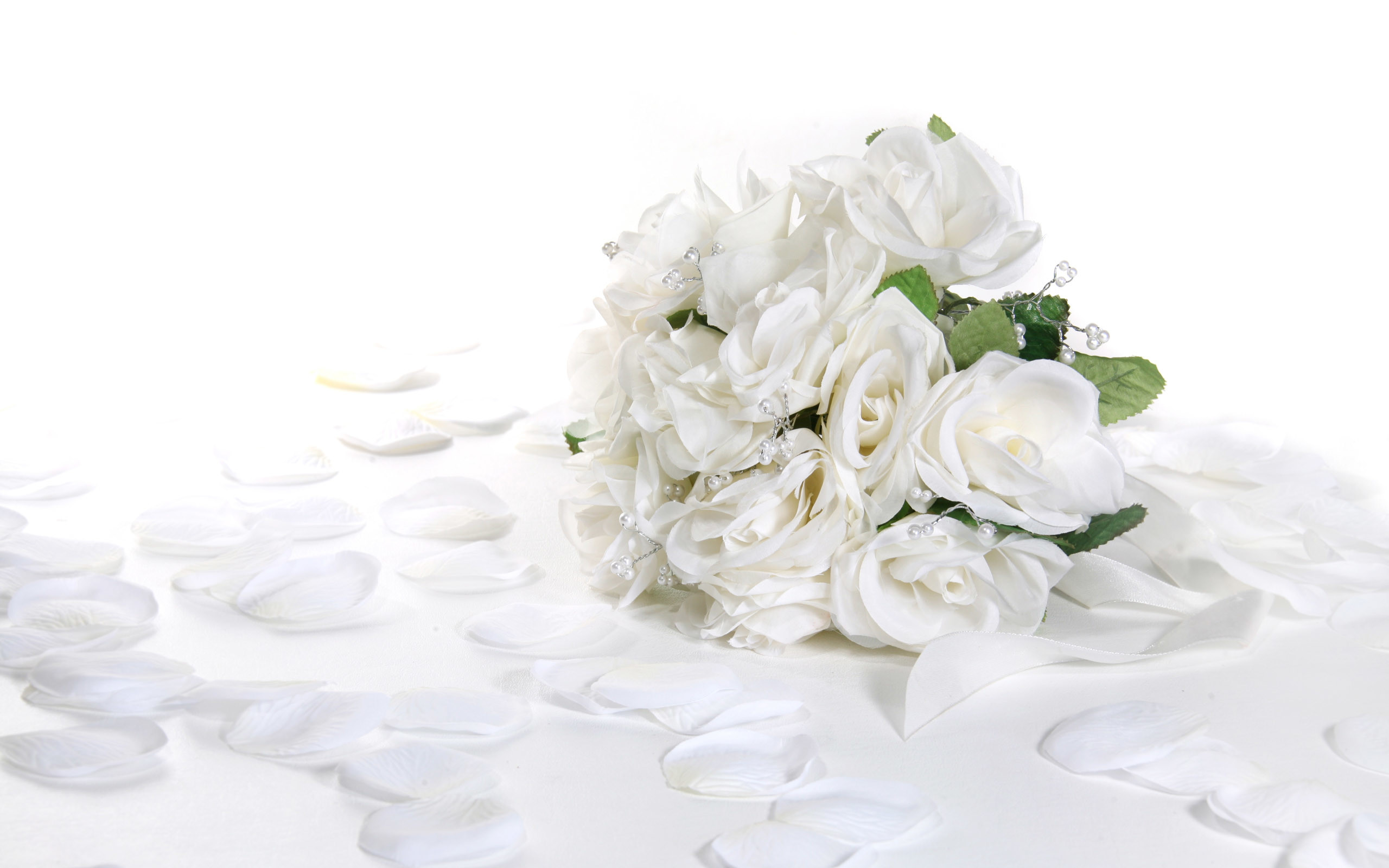 Res: 2560x1600, Romantic White Rose Flower Wedding Wallpaper High Definition Wallpaper
