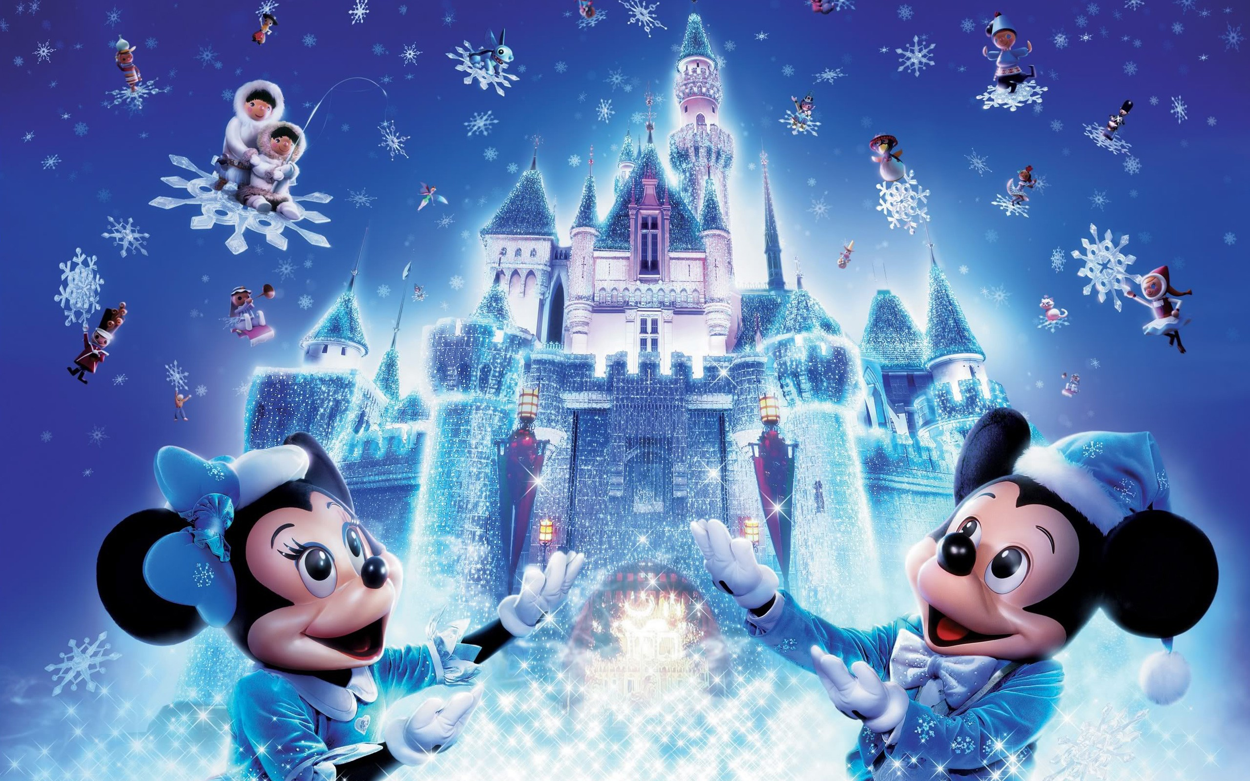 Res: 2560x1600,  Disney Christmas Wallpapers HD Free Download.