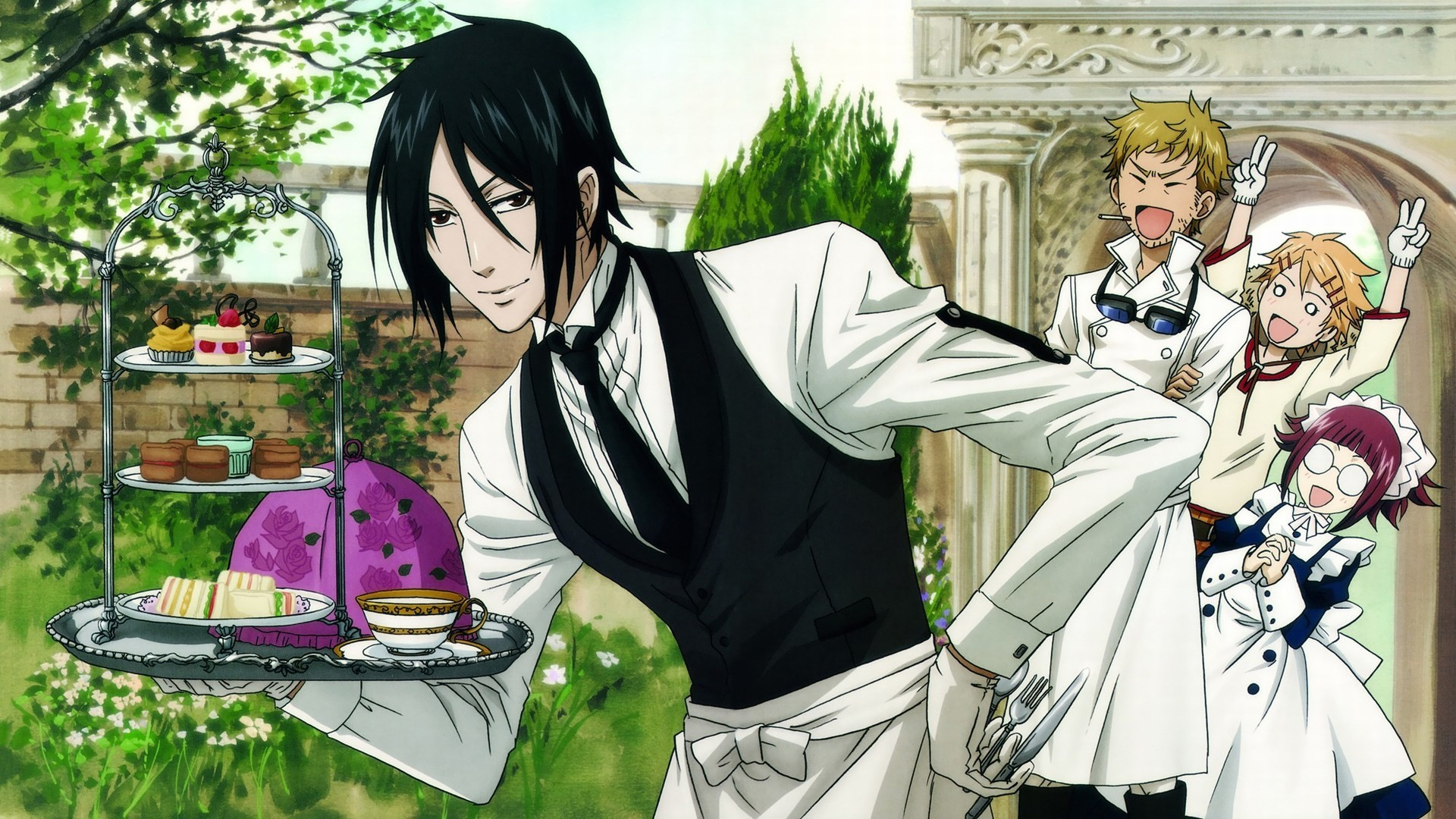 Res: 1920x1080, Sebastian Michaelis Kuroshitsuji (Black Butler) 1080p HD Wallpaper  Background