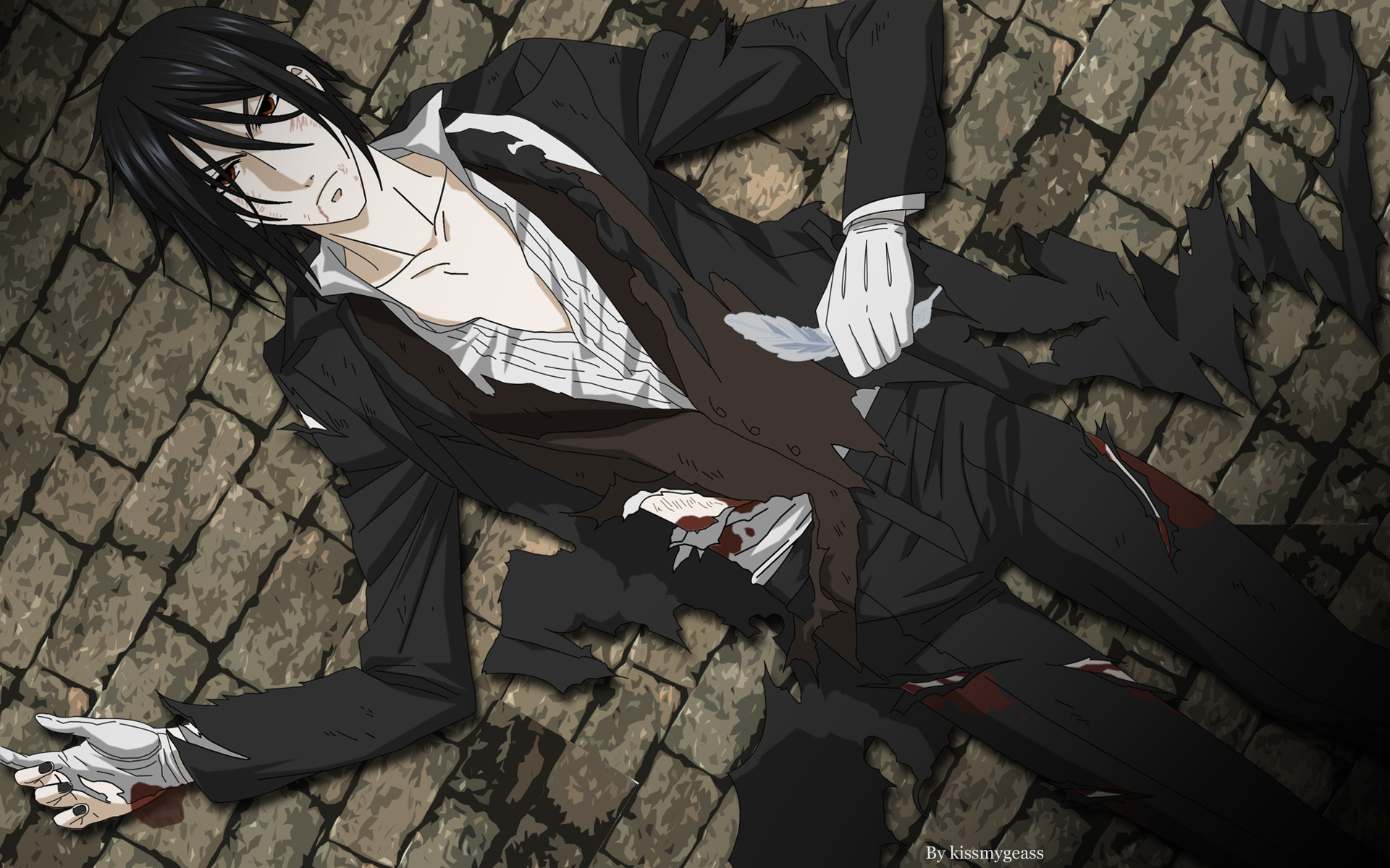 Res: 1920x1200, Tags: Anime, Kissmyglass, Kuroshitsuji, Sebastian Michaelis, Fanart,  deviantART, Wallpaper