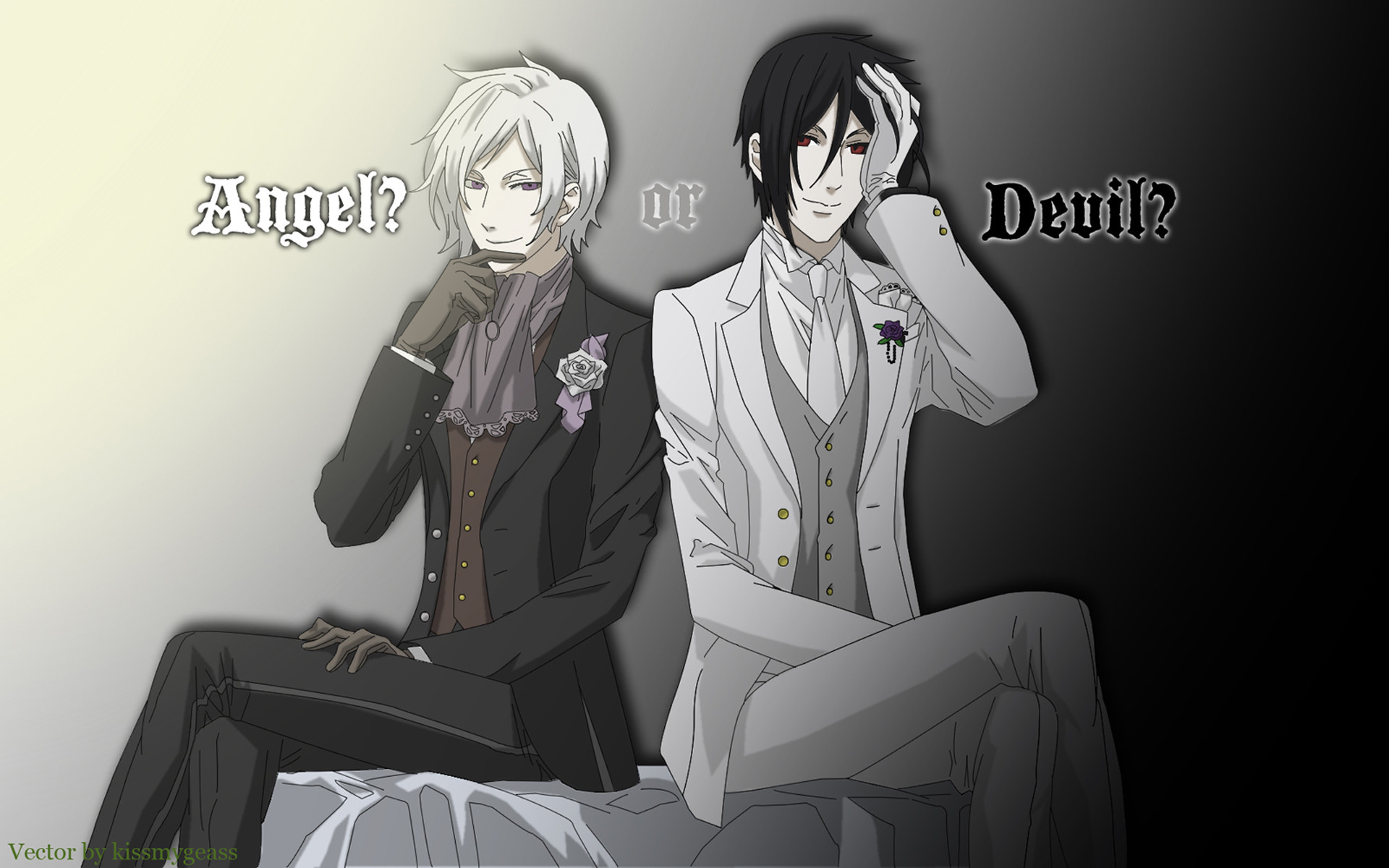 Res: 1920x1200, brunettes, angels, flowers, suit, demons, devil, Kuroshitsuji, Sebastian  Michaelis - Free Wallpaper / WallpaperJam.com