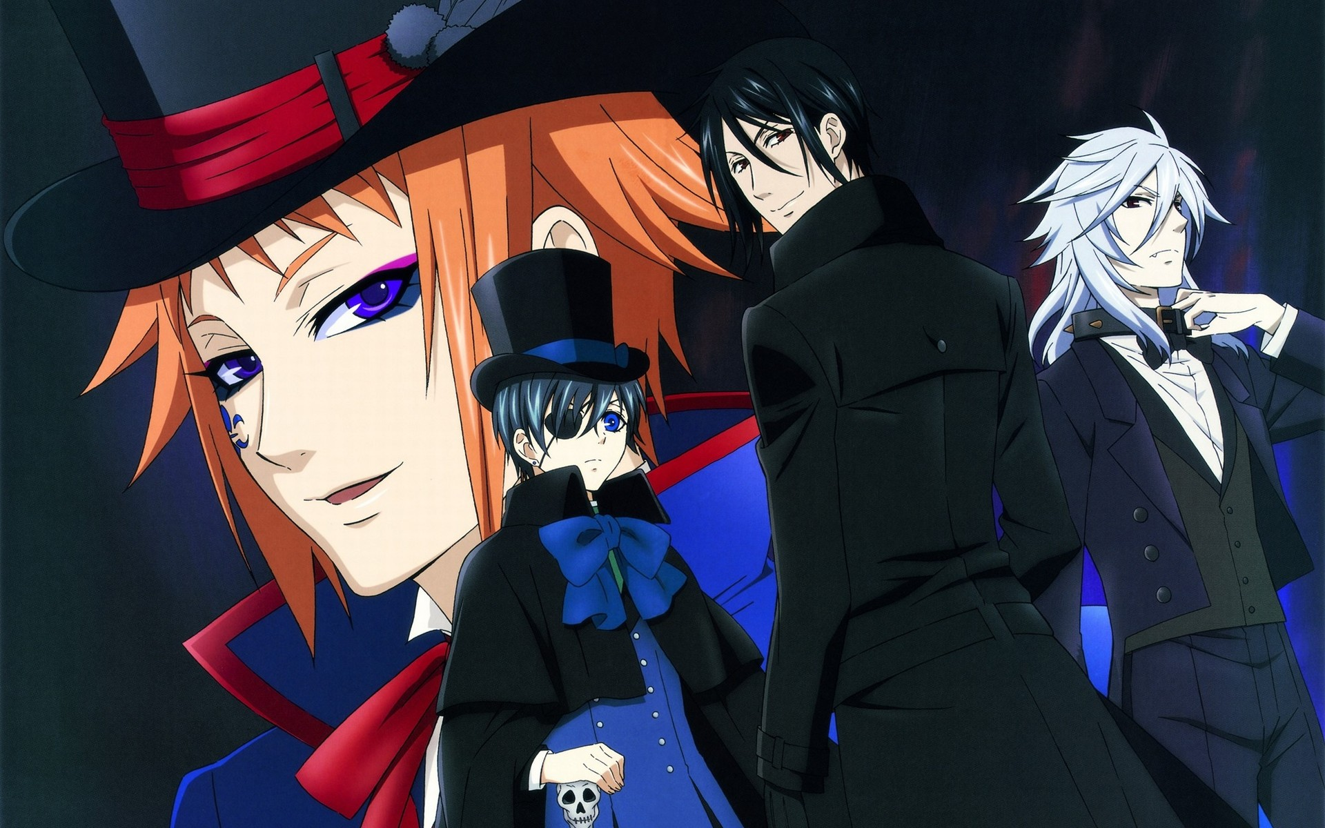 Res: 1920x1200, Wallpapersxl Ciel Phantomhive Eyepatch Header Images Kuroshitsuji Michaelis  Sebastian.