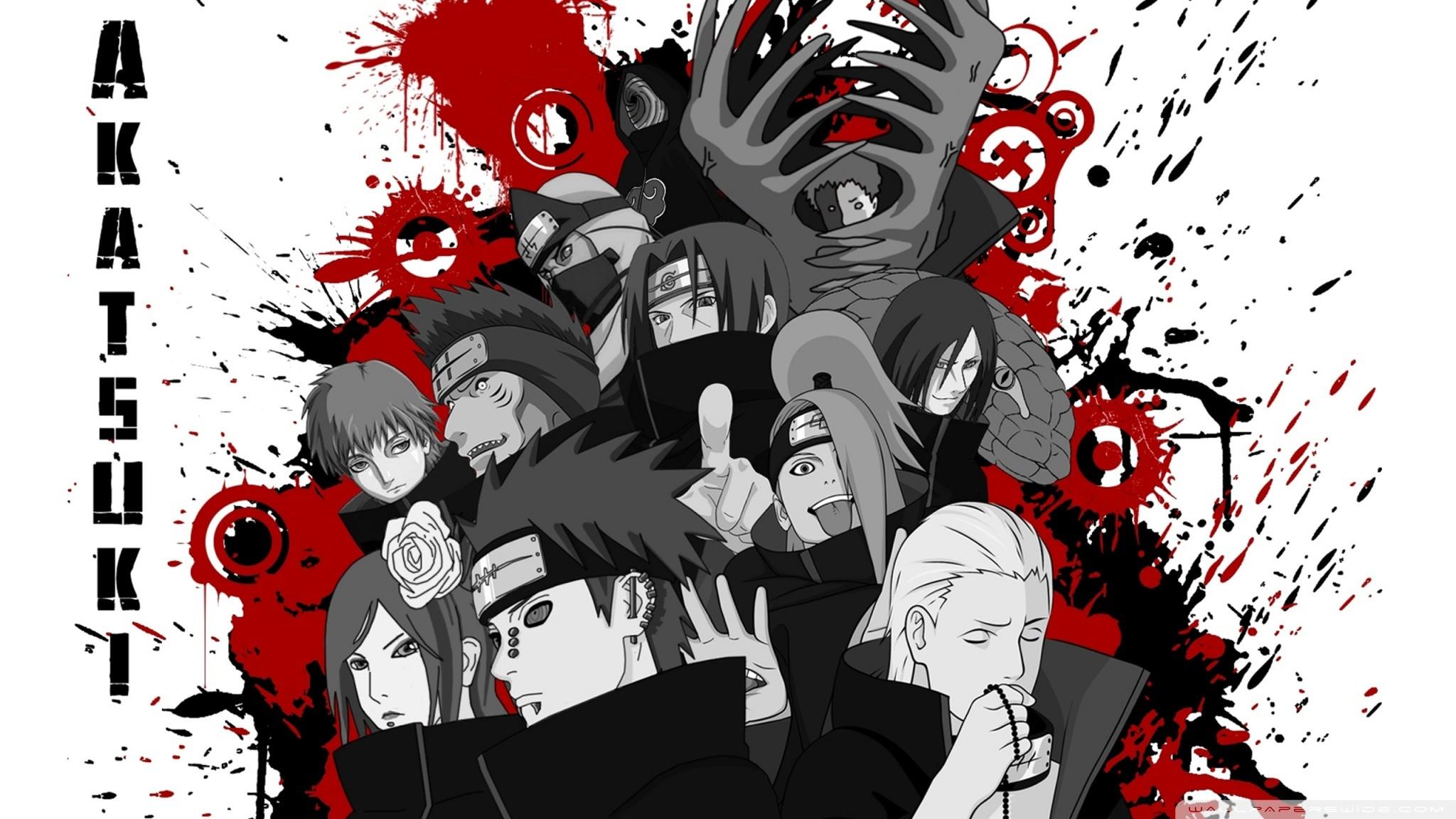 Res: 2048x1152, Anime - Naruto Akatsuki (Naruto) Obito Uchiha Kakuzu (Naruto) Kisame  Hoshigaki Zetsu