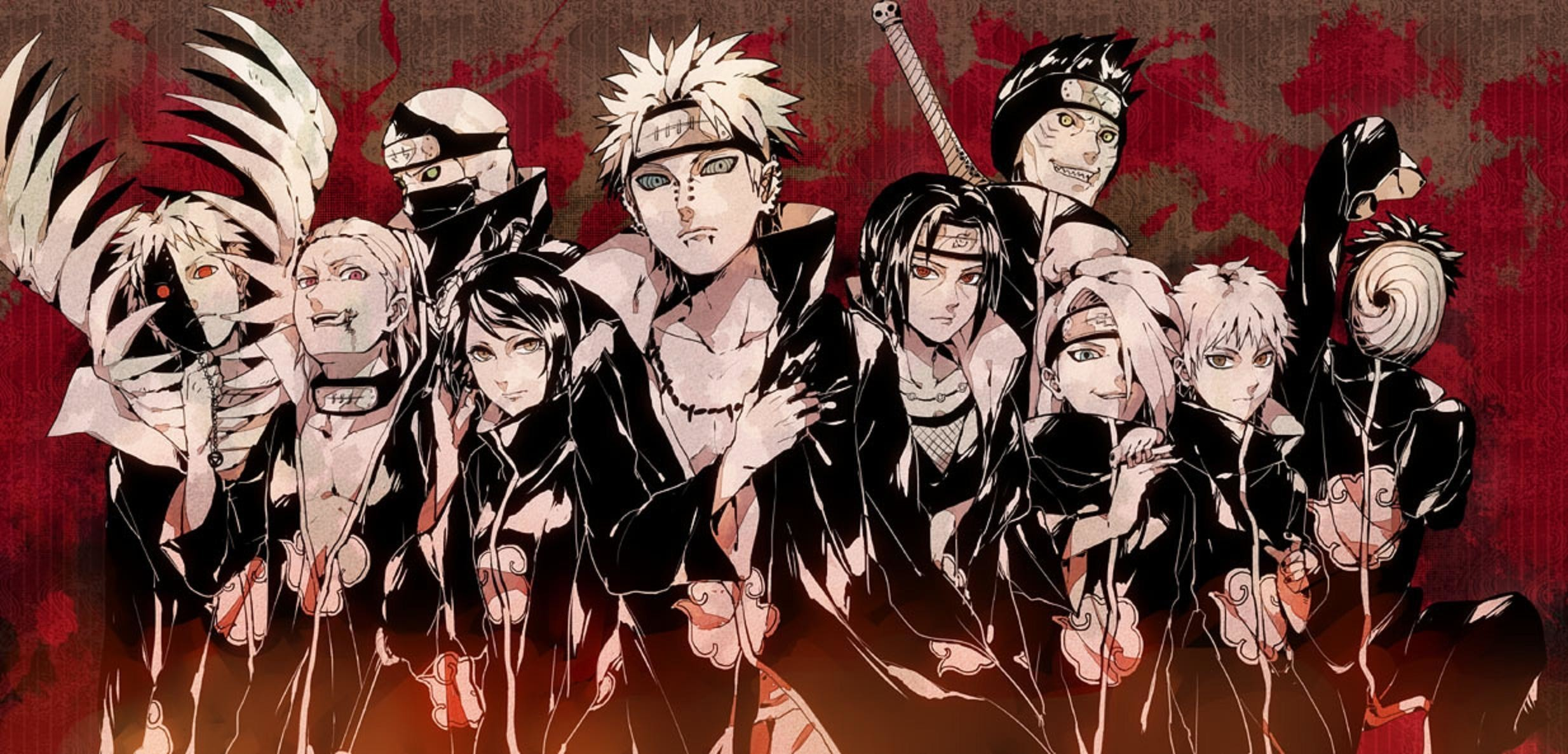 Res: 2468x1186,  Wallpapers For > Akatsuki Wallpaper For Windows 7
