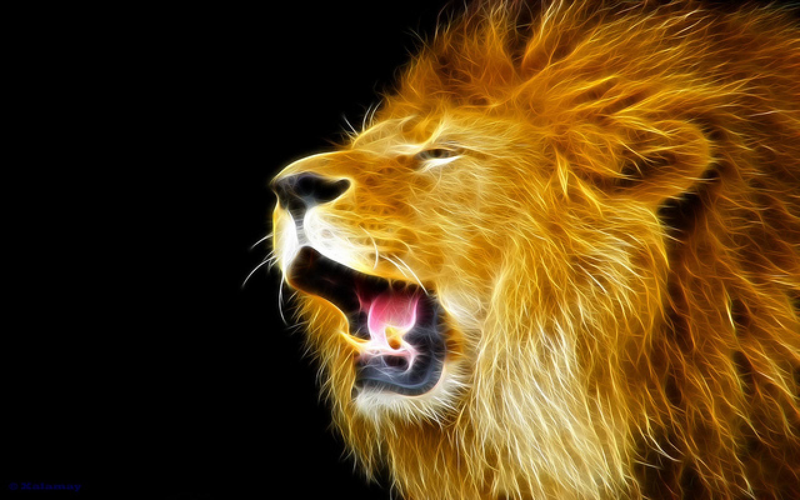 Res: 2560x1600, Animal Wallpapers. Download the following Roaring Lion ...