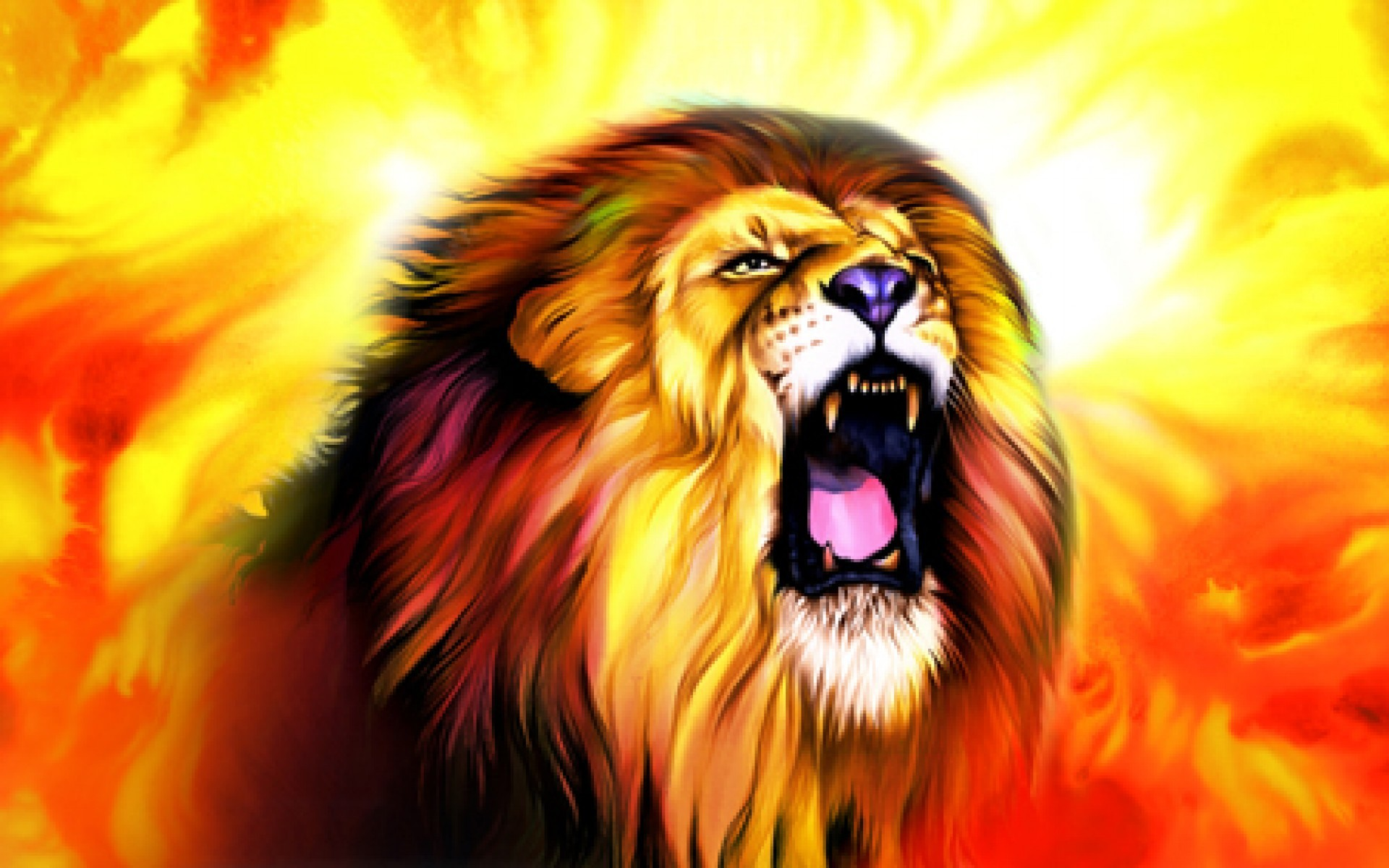 Res: 1920x1200, Title : Image of roaring lion dowload
