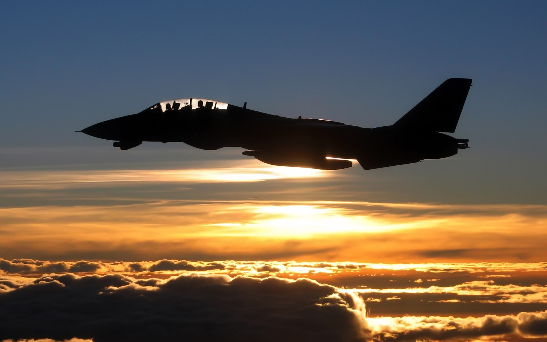 Res: 1920x1200, airplane sunset grumman f 14 tomcat silhouette clouds wallpaper and  background