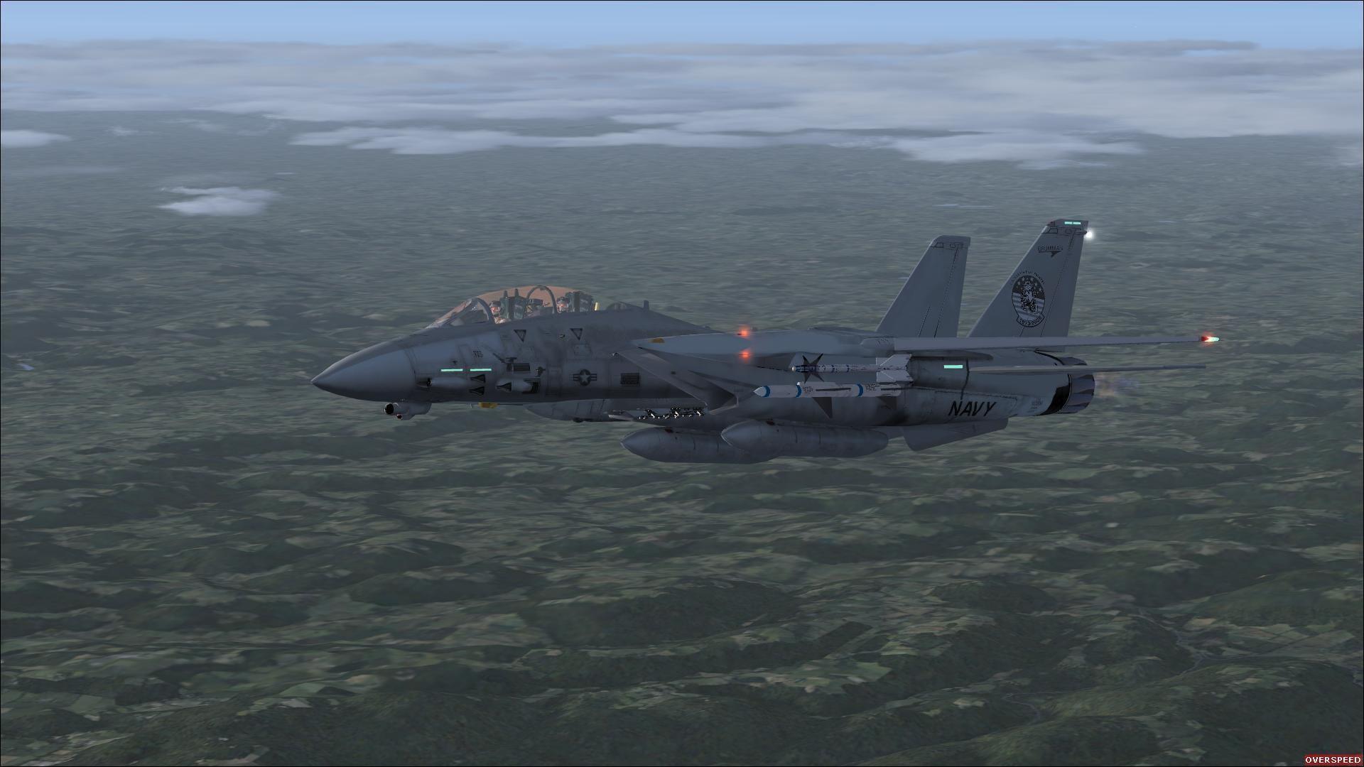 Res: 1920x1080, Grumman F-14 über Deutschland in der Dämmerung